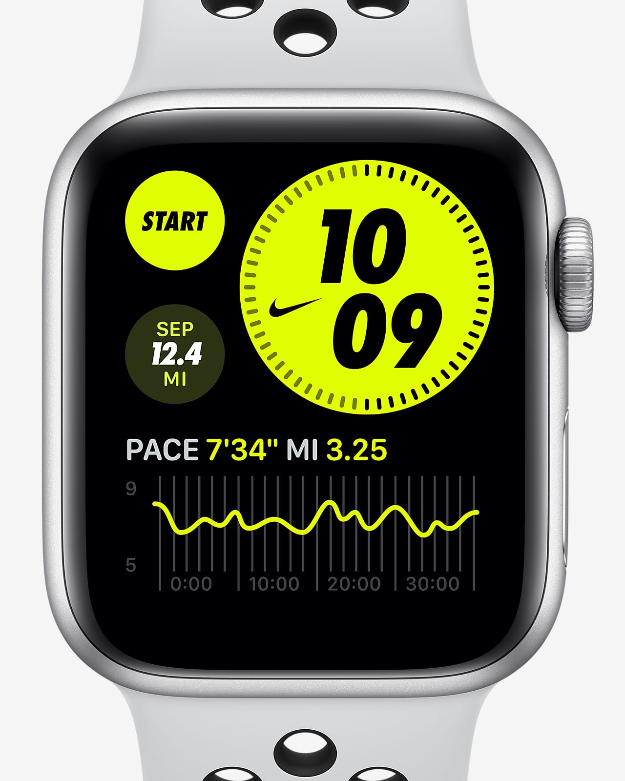 Apple Watch Nike Series 6 (GPS) with Nike Sport Band 44mm Silver Aluminum Case