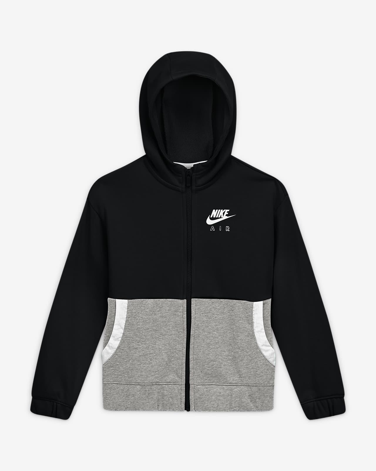 Nike Air-Hættetrøje med lynlås til store børn (piger)