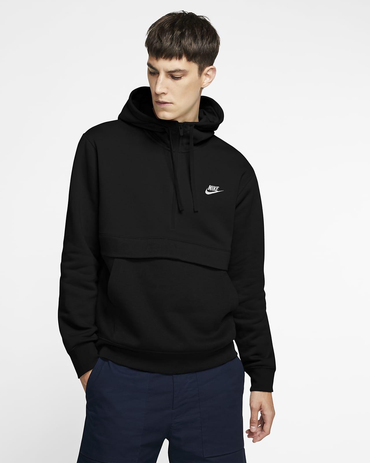 Huvtröja Nike Sportswear Club Fleece med halv dragkedja för män
