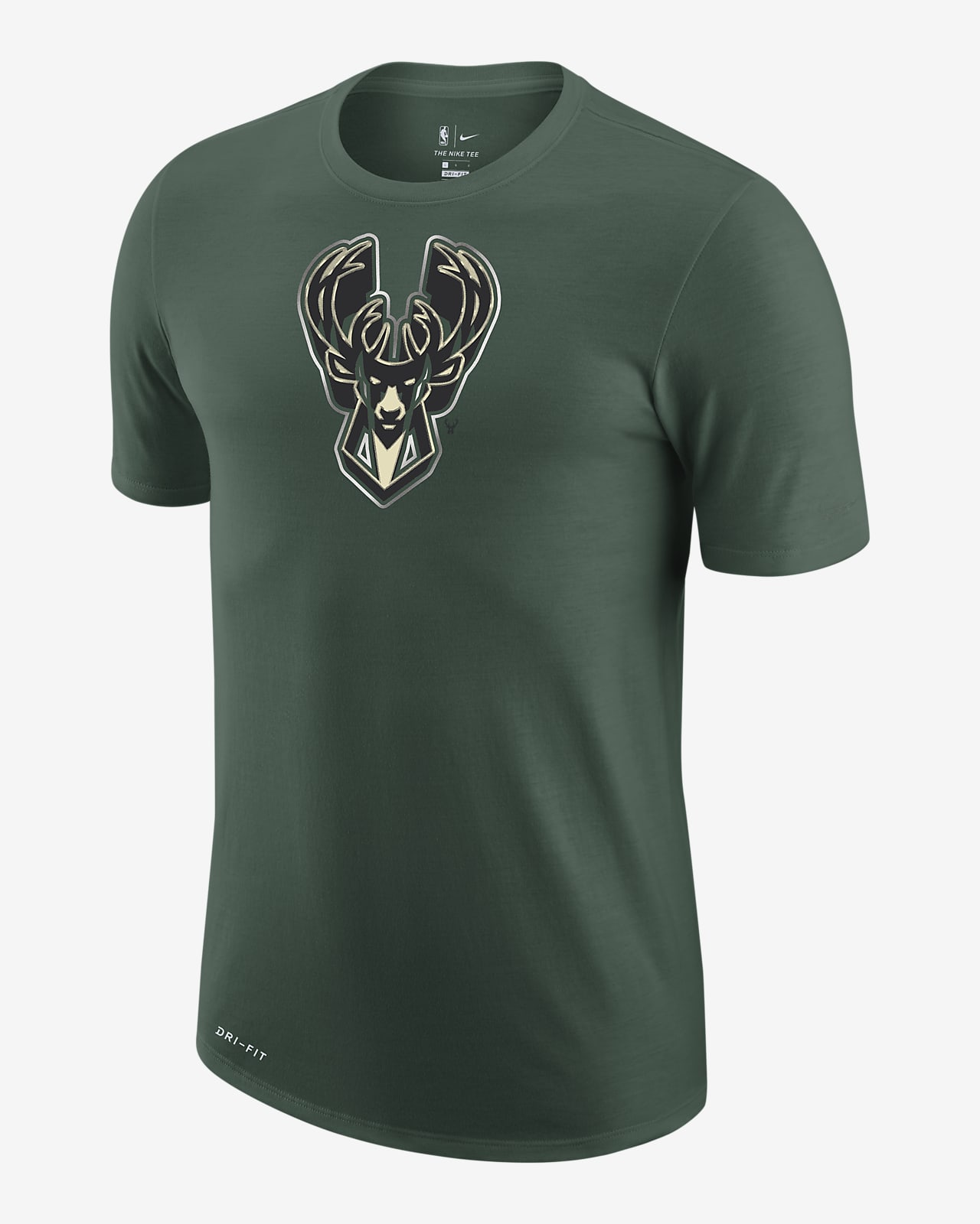 Milwaukee Bucks Earned Edition Men's Nike Dri-FIT NBA Logo T-Shirt