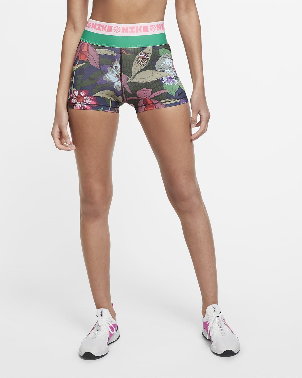 Shorts de entrenamiento estampados de 7,5 cm para mujer Nike Icon Clash