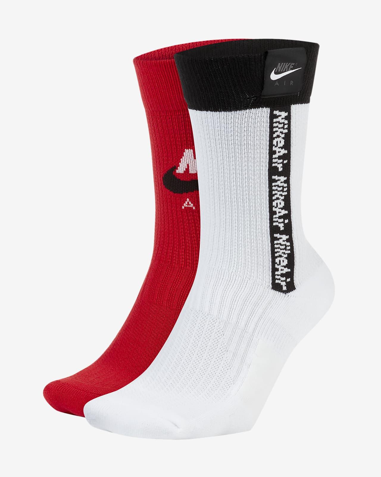 Nike Air SNEAKR SOX Crew Socks (2 Pairs)