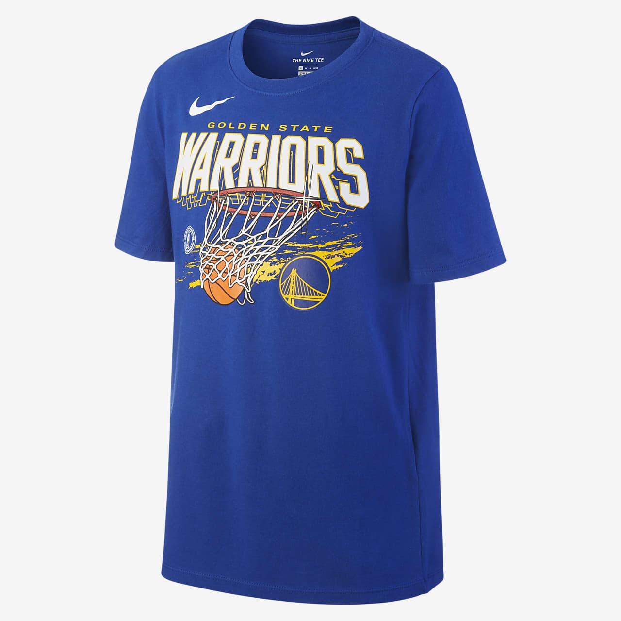 Tee shirt Nike Dri FIT NBA Golden State Warriors Team Mark pour Garçon