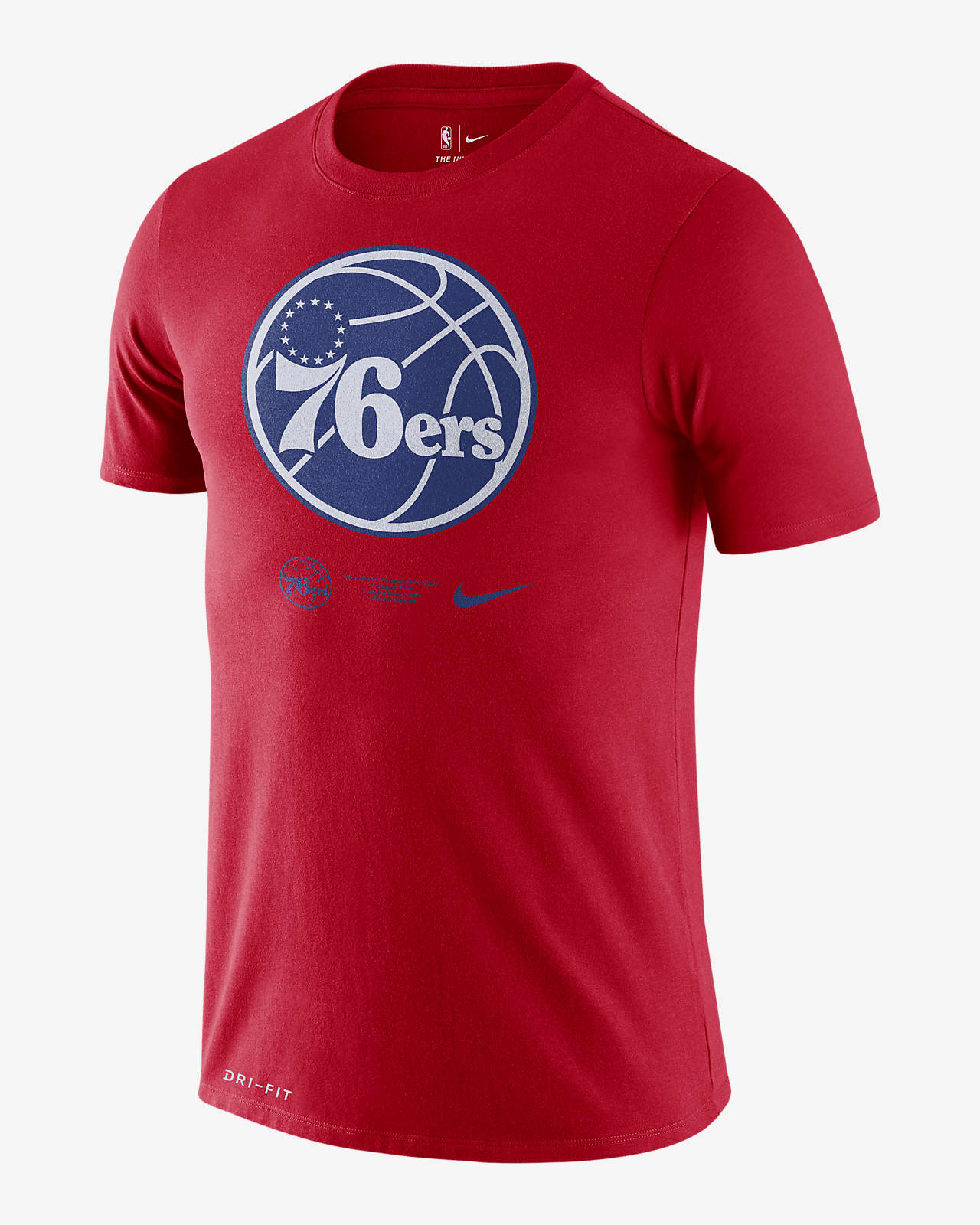 Philadelphia 76ers Logo Men's Nike Dri-FIT NBA T-Shirt
