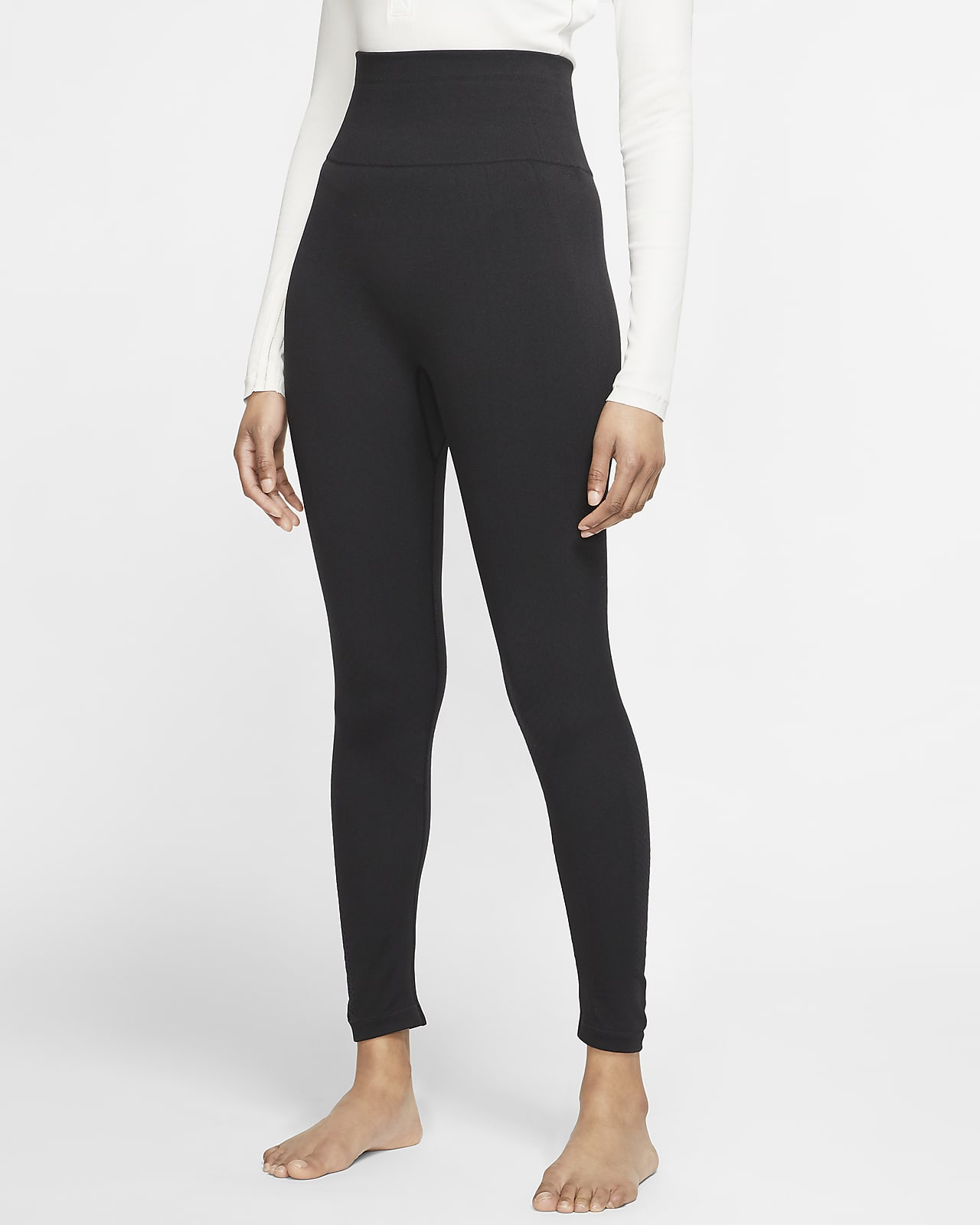 Sømløse Nike Yoga-7/8-tights til kvinder