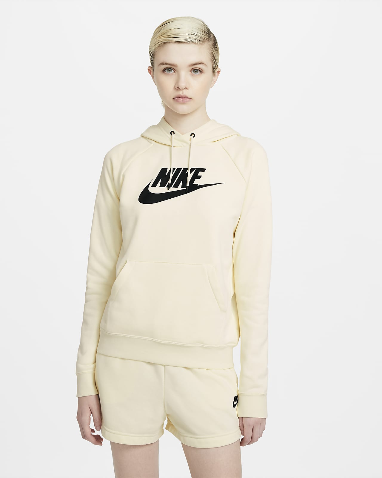 Sudadera con capucha sin cierre de tejido Fleece para mujer Nike Sportswear Essential