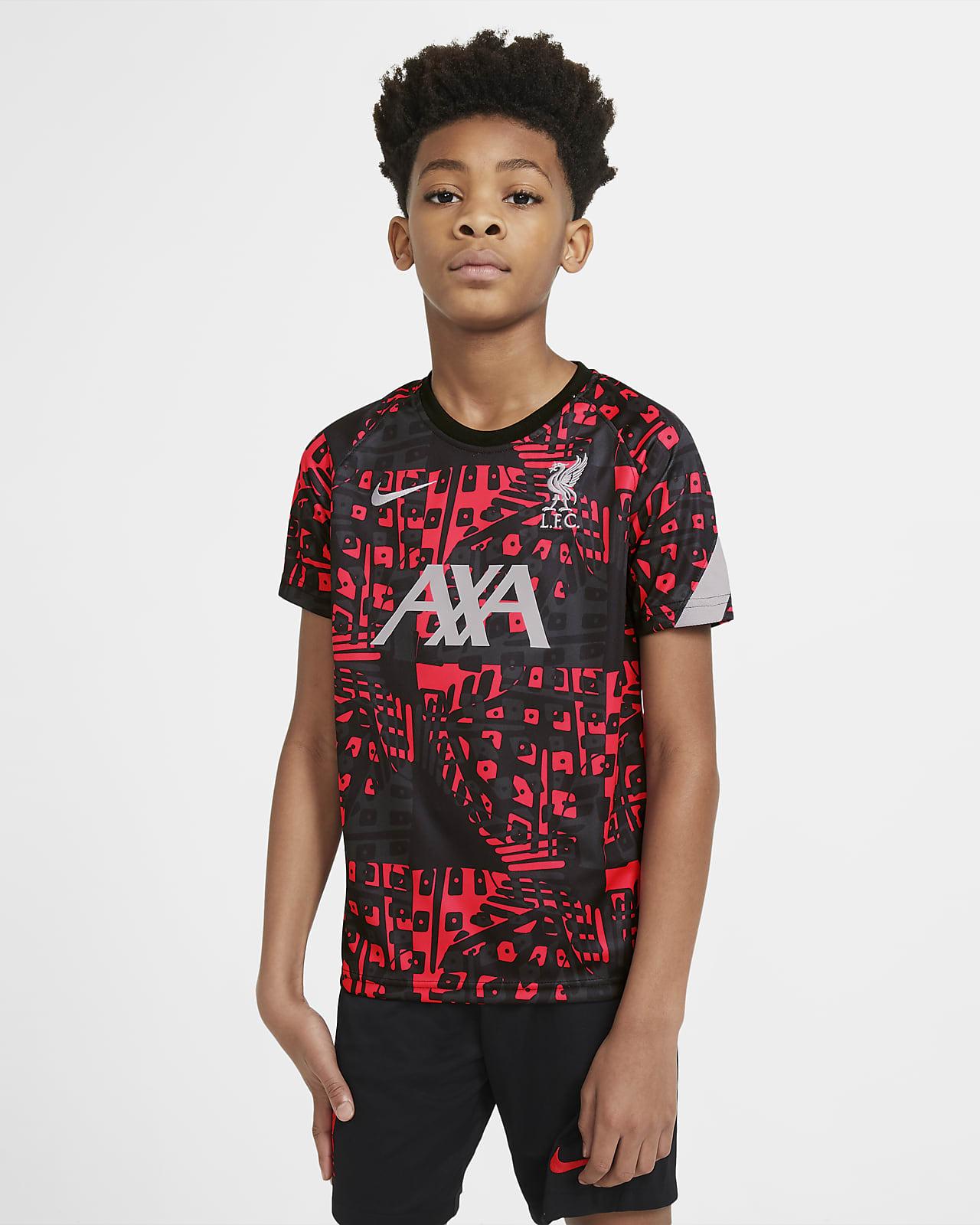 Предматчевая игровая футболка с коротким рукавом для школьников Liverpool FC