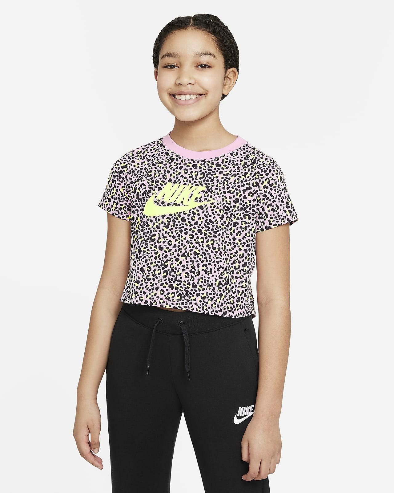 Nike Sportswear Older Kids' (Girls') Printed Crop Top