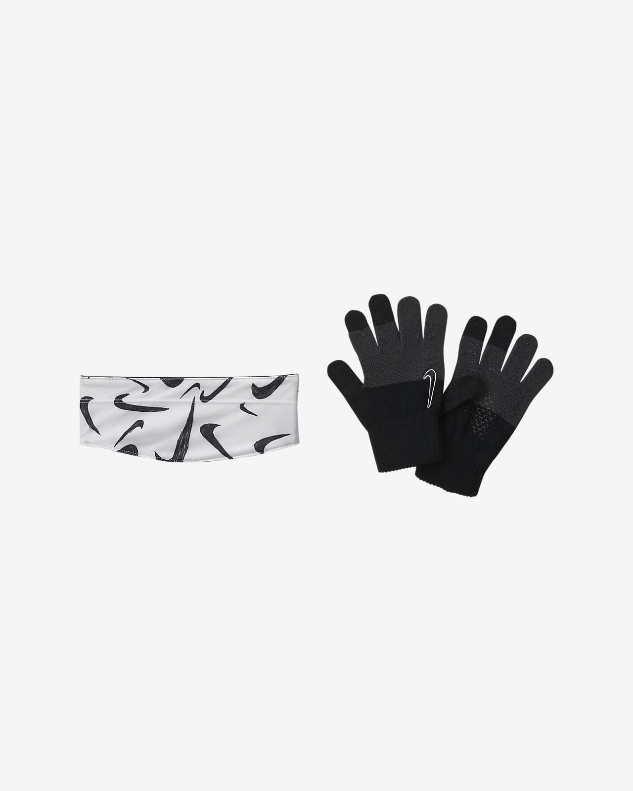Nike HyperStorm Kids' Graphic Headband and Gloves Set