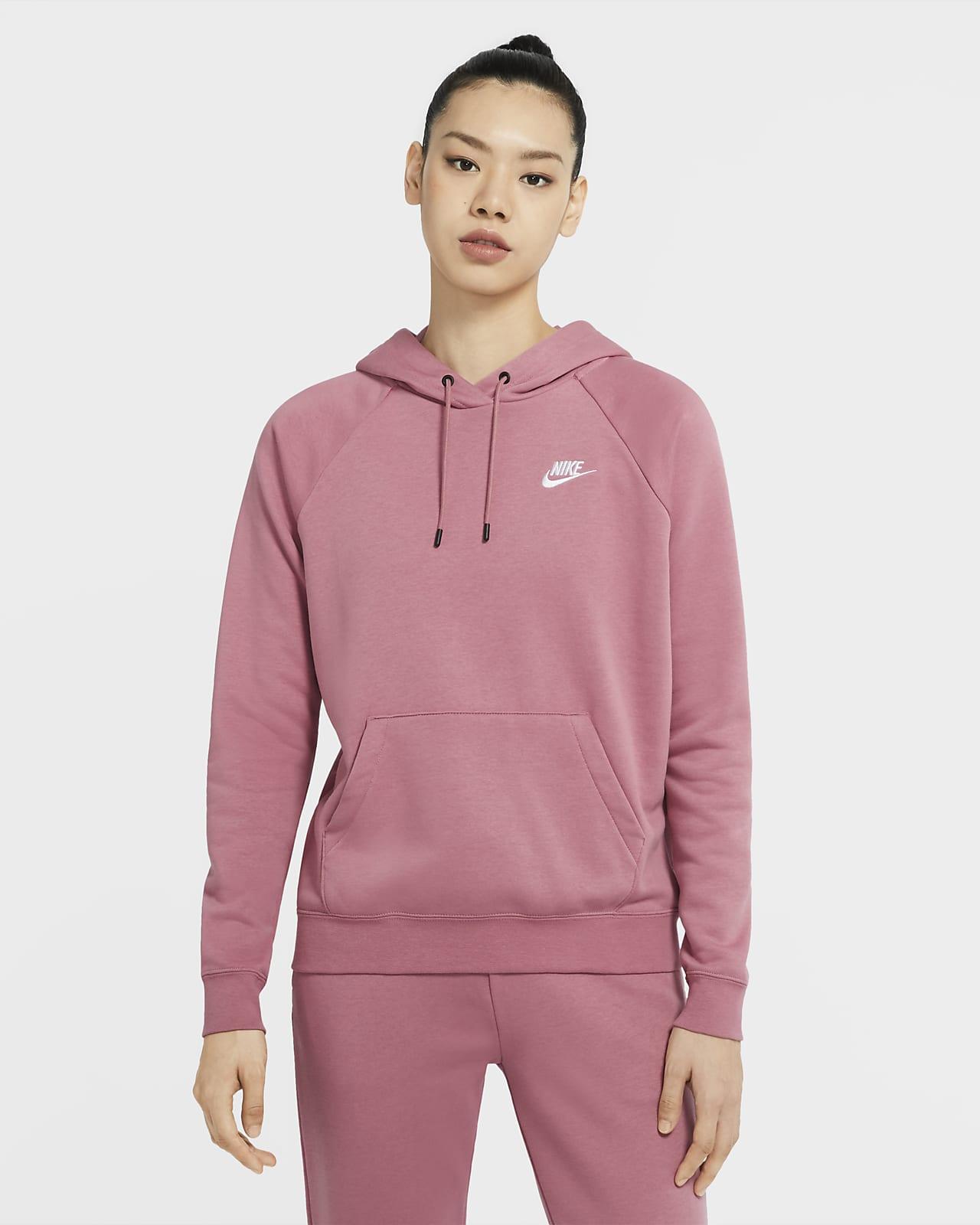 Nike Sportswear Essential-pullover-hættetrøje i fleece til kvinder