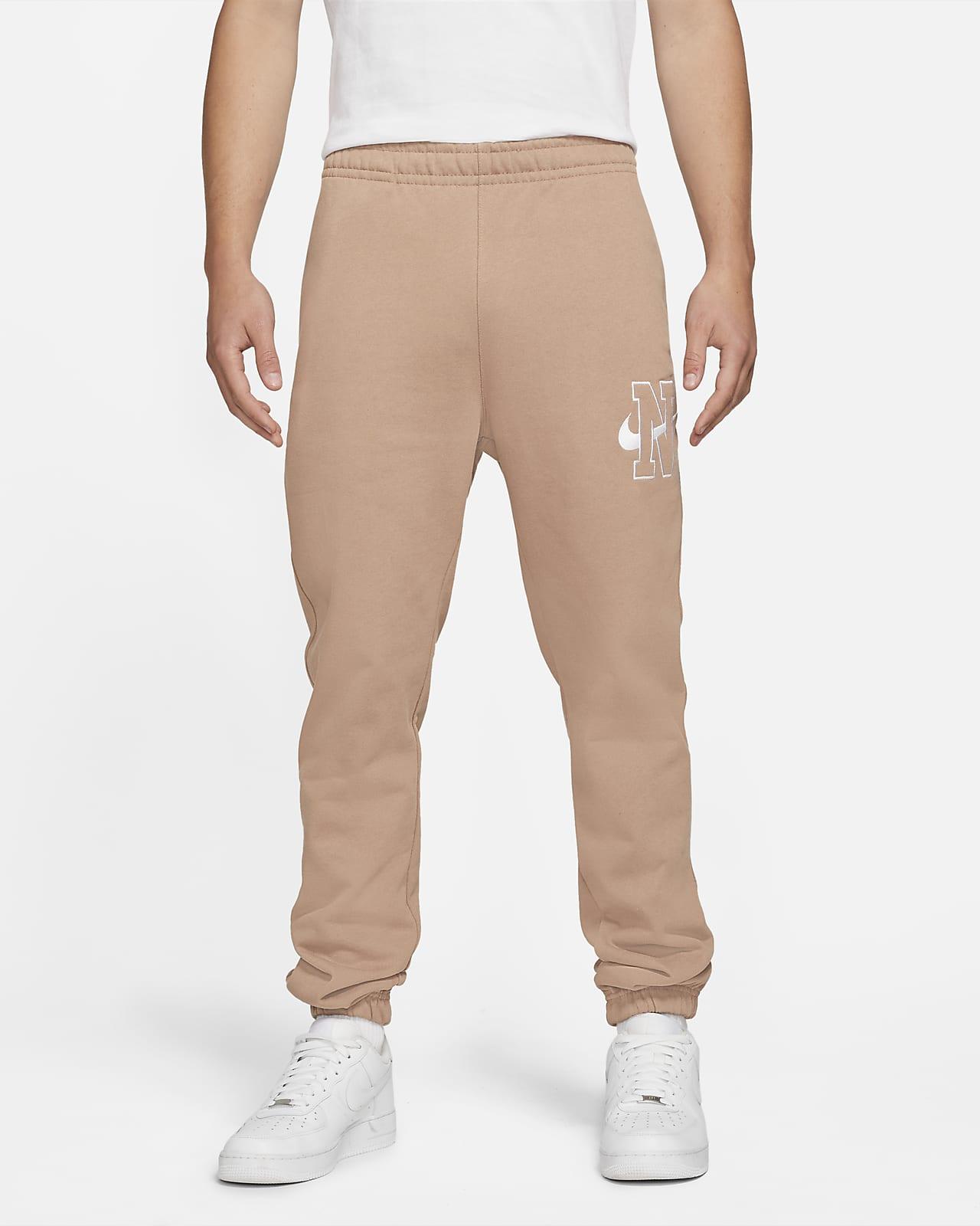Calças de lã cardada Nike Sportswear Club para homem