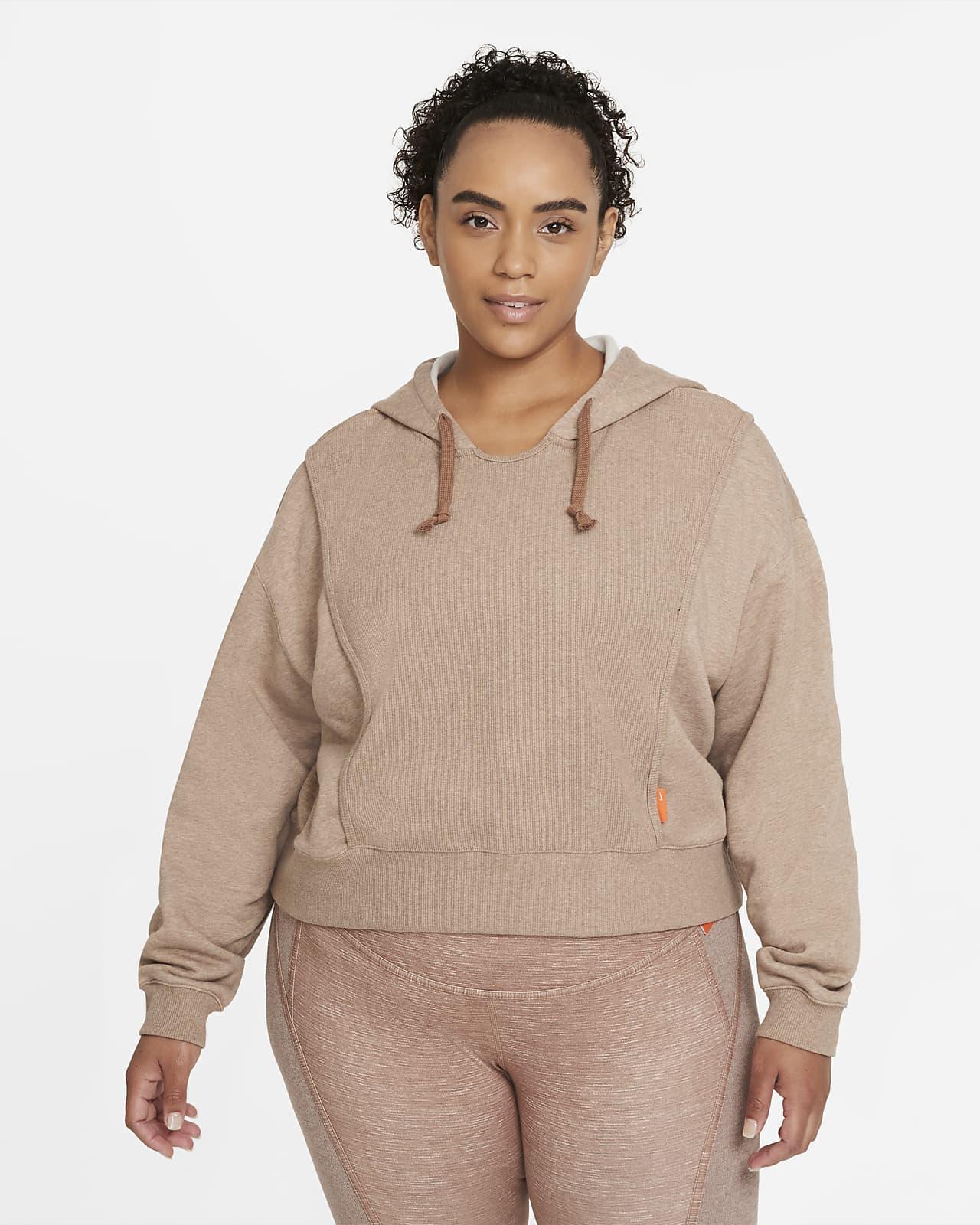 Sudadera con gorro de entrenamiento de tejido Fleece para mujer Nike Dri-FIT (talla grande)