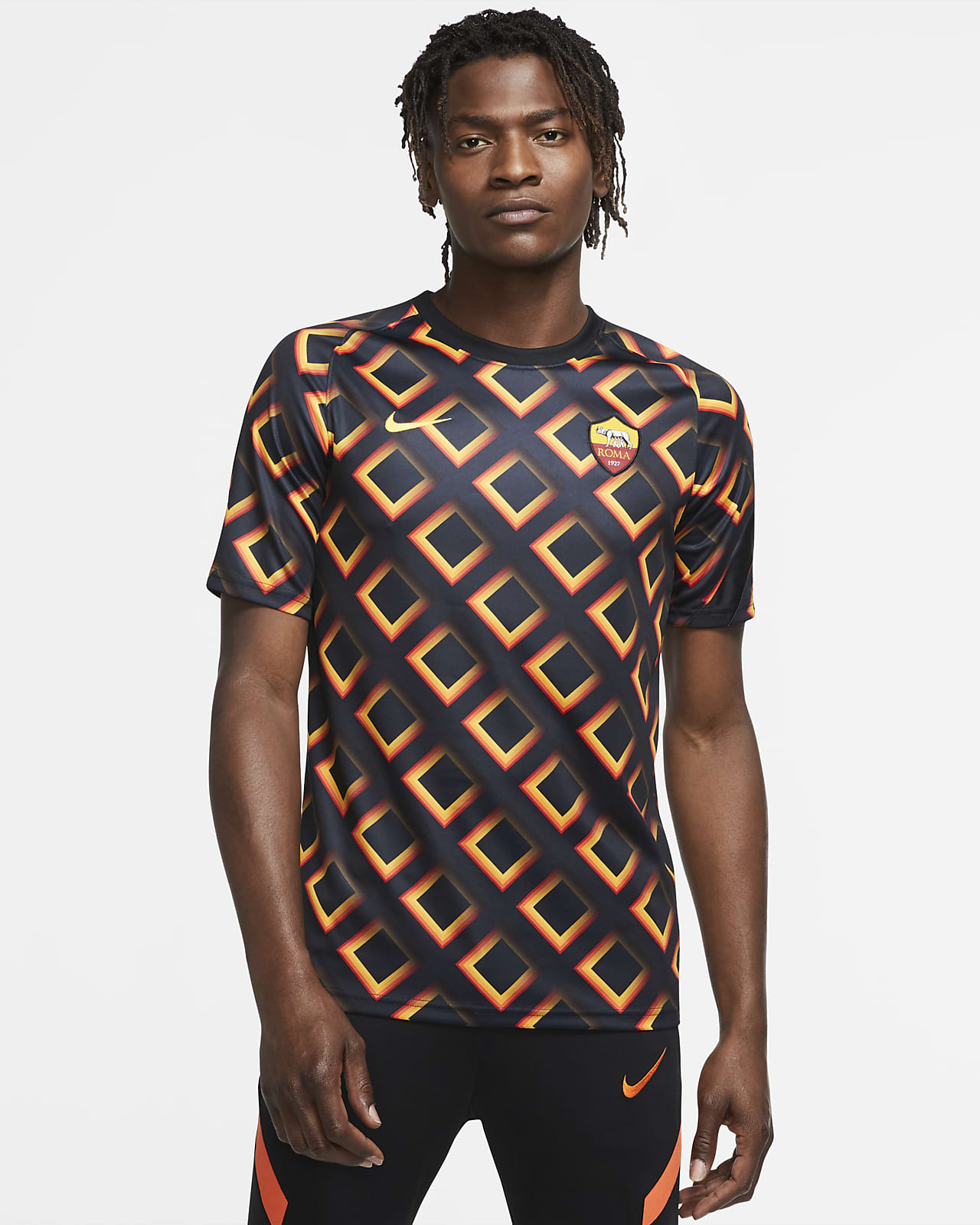 AS Roma Men's Short-Sleeve Football Top