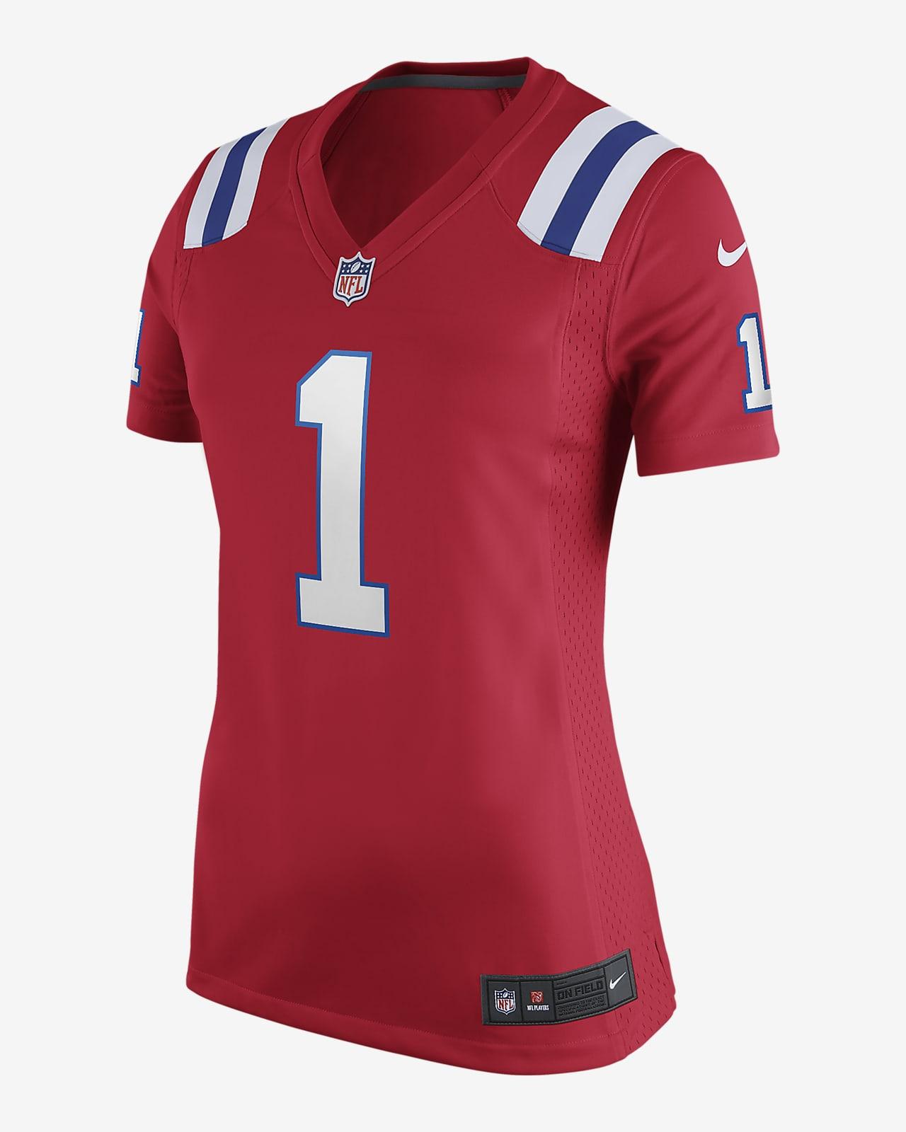 NFL New England Patriots (Cam Newton) Women's Game Football Jersey