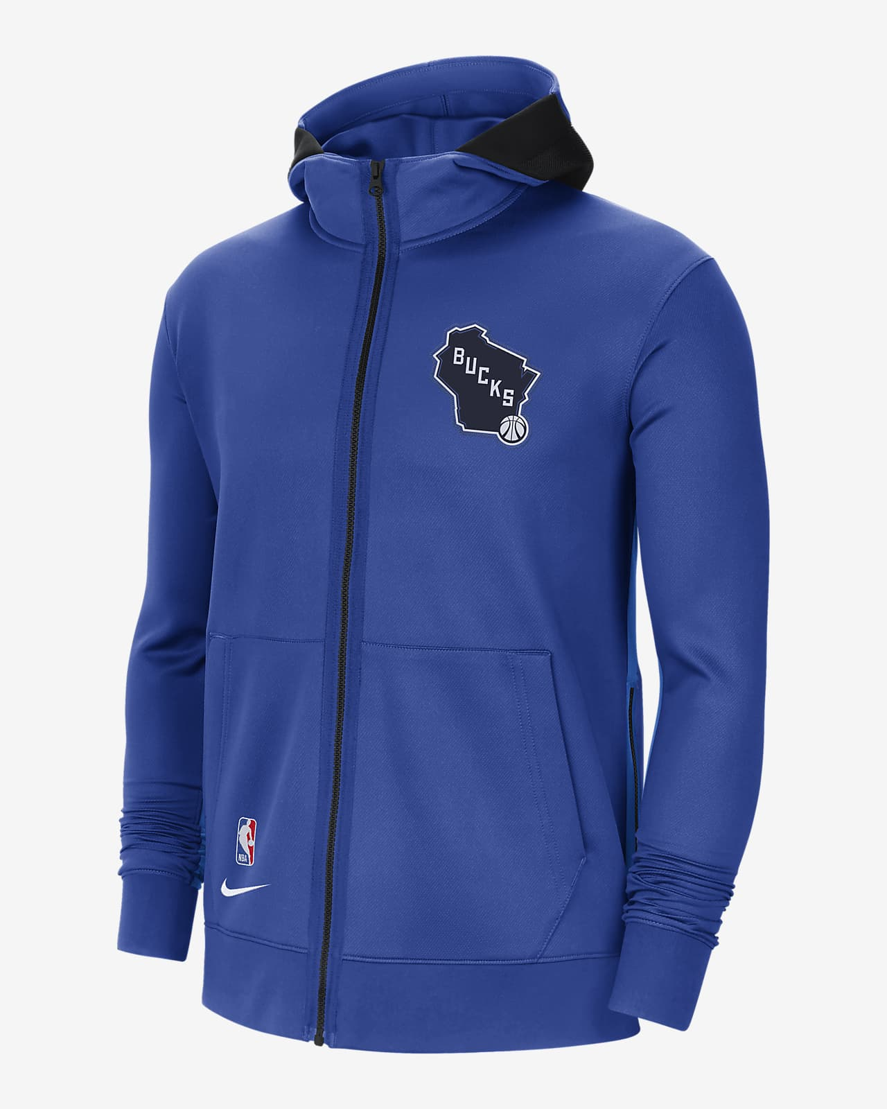 Męska bluza z kapturem NBA Nike Therma Flex Milwaukee Bucks Showtime City Edition