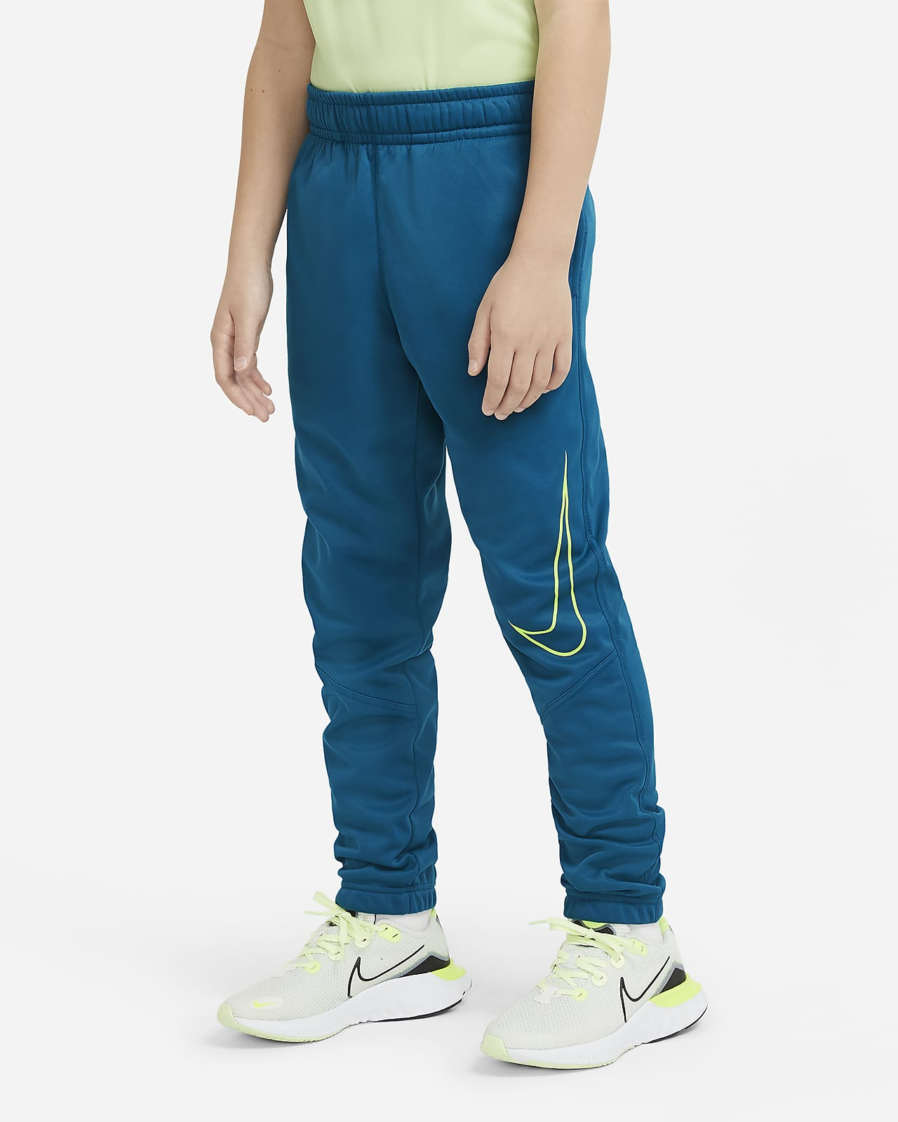 Παντελόνι προπόνησης που στενεύει προς τα κάτω με σχέδιο Nike Therma για μεγάλα αγόρια