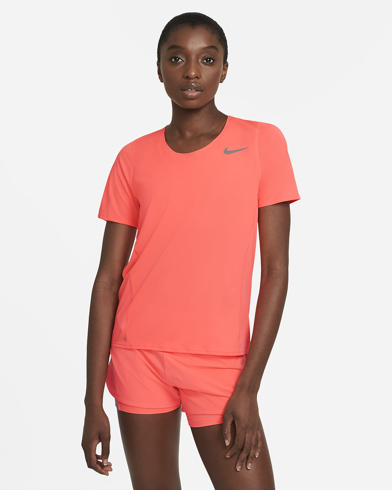 Nike City Sleek Kurzarm-Laufoberteil für Damen