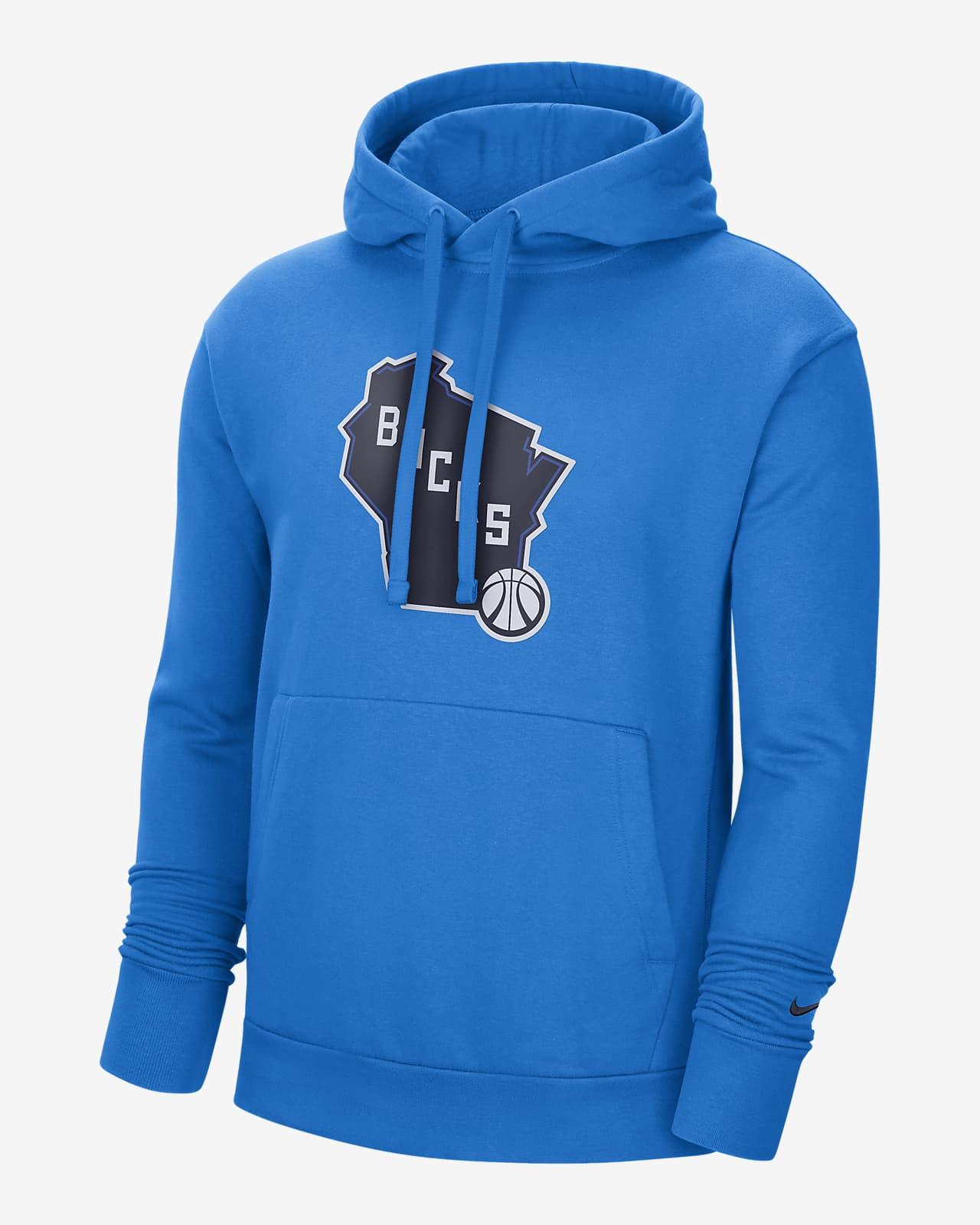 Milwaukee Bucks City Edition Logo Nike NBA Erkek Kapüşonlu Sweatshirt'ü