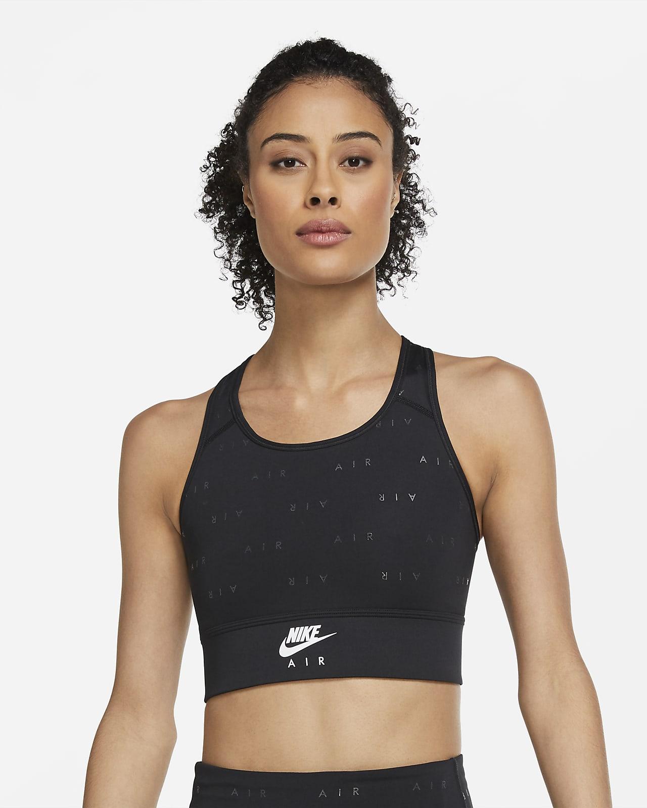 Brassière de sport longue à maintien normal Nike Air Swoosh pour Femme