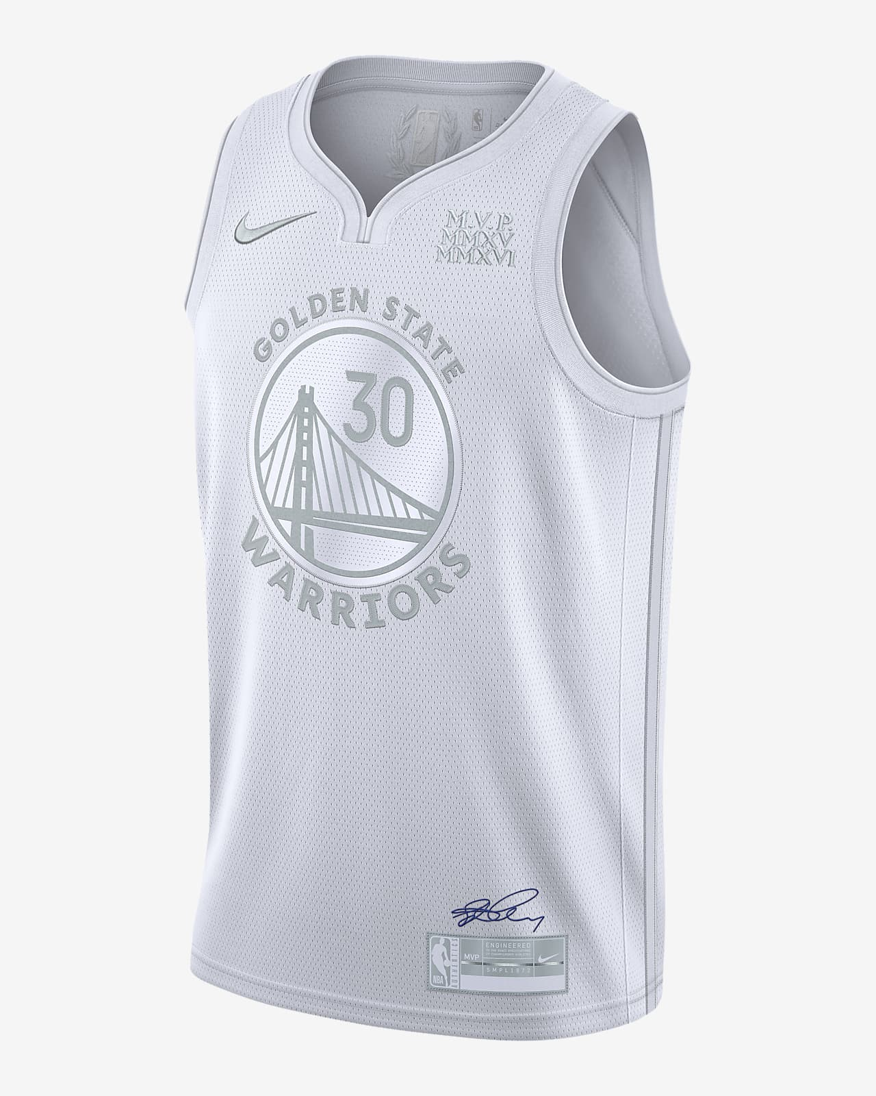 Maillot Nike NBA Stephen Curry Warriors MVP pour Homme