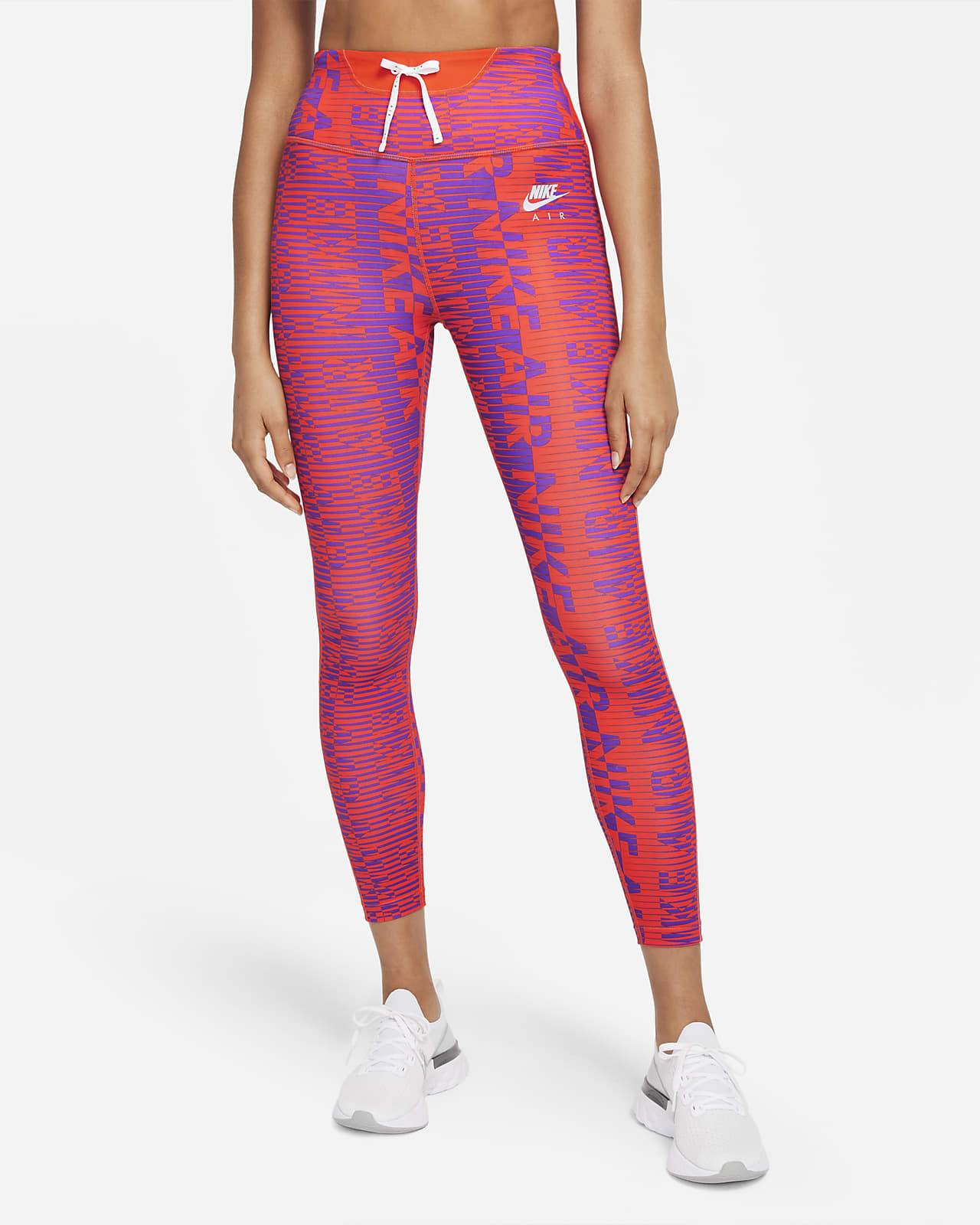 Nike Air Epic Fast 7/8-Lauf-Tights mit hohem Bund und Print für Damen