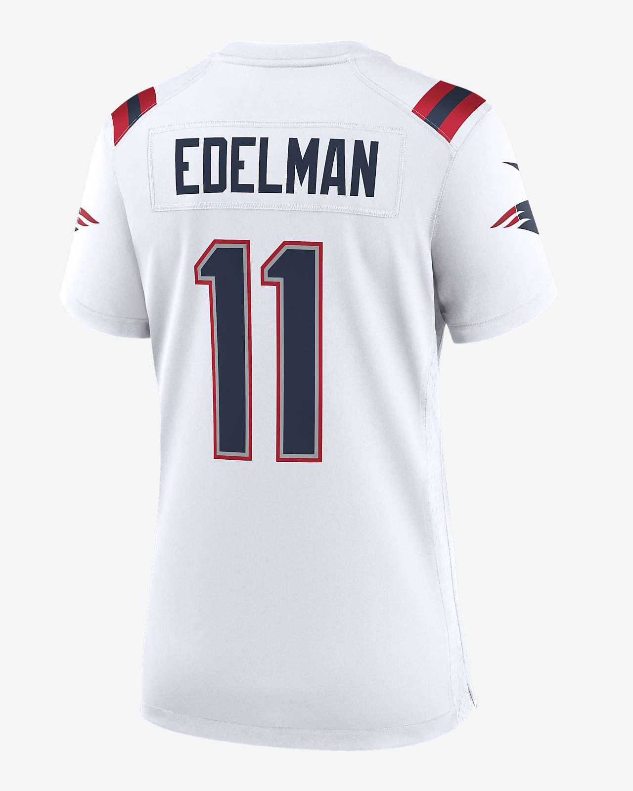 NFL New England Patriots (Julian Edelman) Women's Game Football Jersey