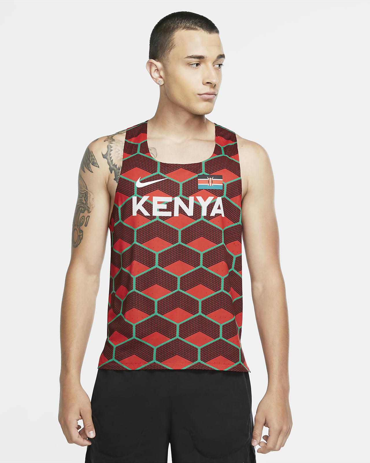 Camiseta sin mangas de running para hombre Nike Dri-FIT ADV Team Kenya AeroSwift