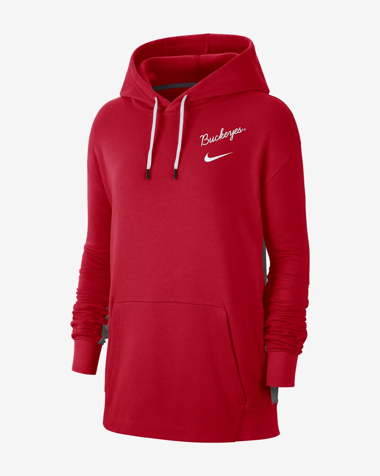 Nike College (Ohio State) Women's Fleece Pullover Hoodie