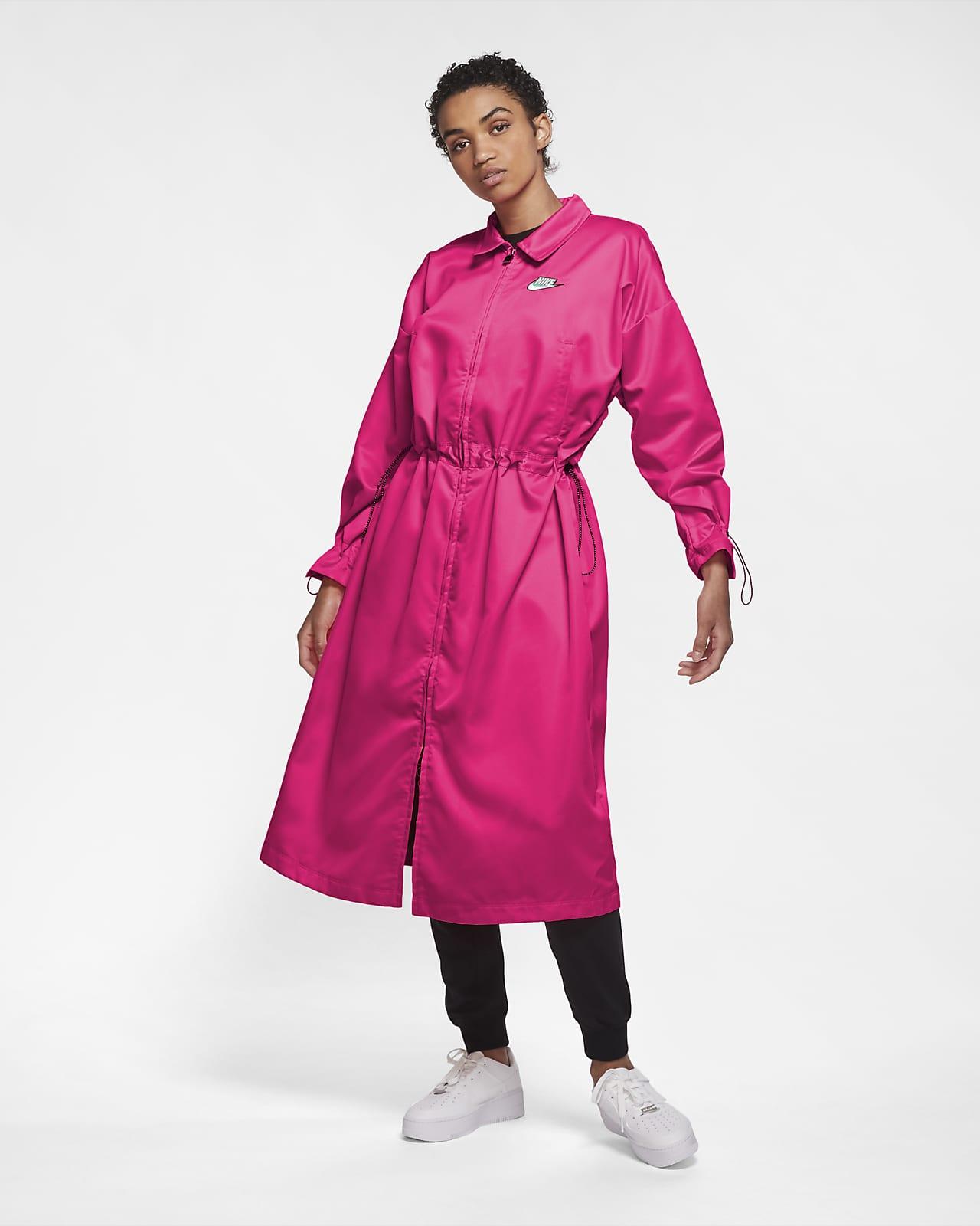 Nike Sportswear Icon Clash lange Satin-Track-Jacke für Damen