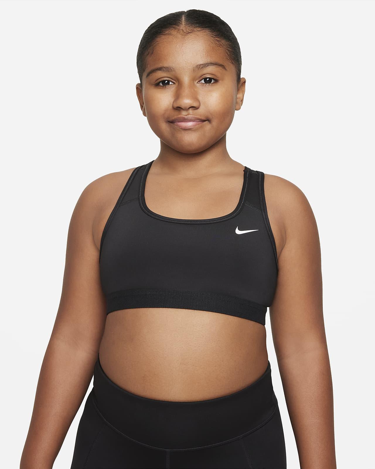 Αθλητικός στηθόδεσμος Nike Swoosh για μεγάλα κορίτσια (μεγαλύτερο μέγεθος)