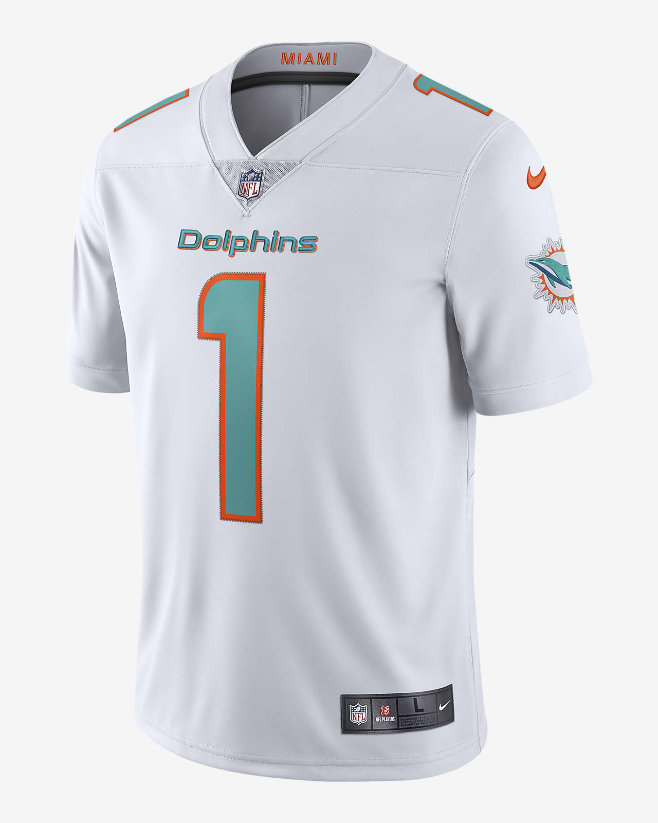 NFL Miami Dolphins (Tua Tagovailoa) Men's Game Football Jersey