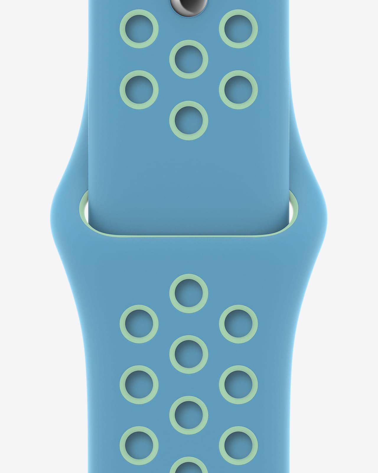 44mm Chlorine Blue/Green Glow Correa Nike Sport – Talla única