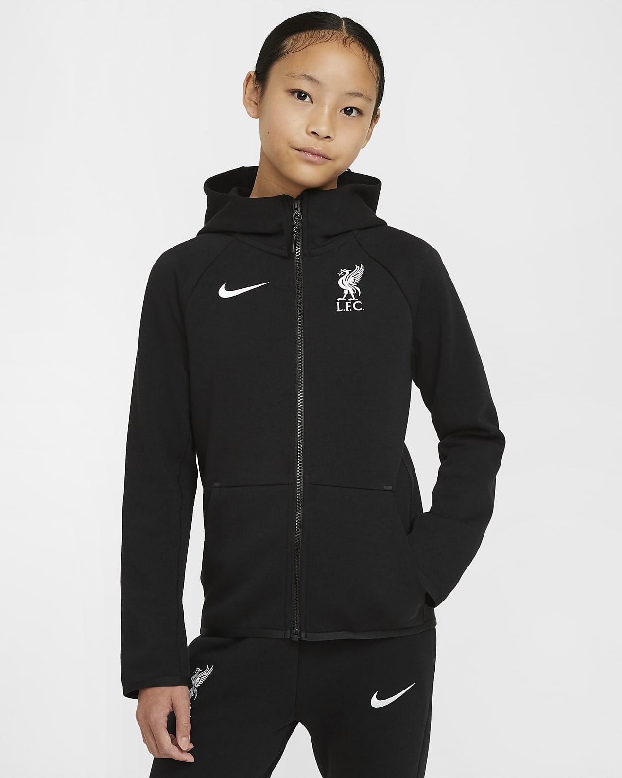 Liverpool F.C. Tech Fleece Essentials Older Kids' Full-Zip Hoodie