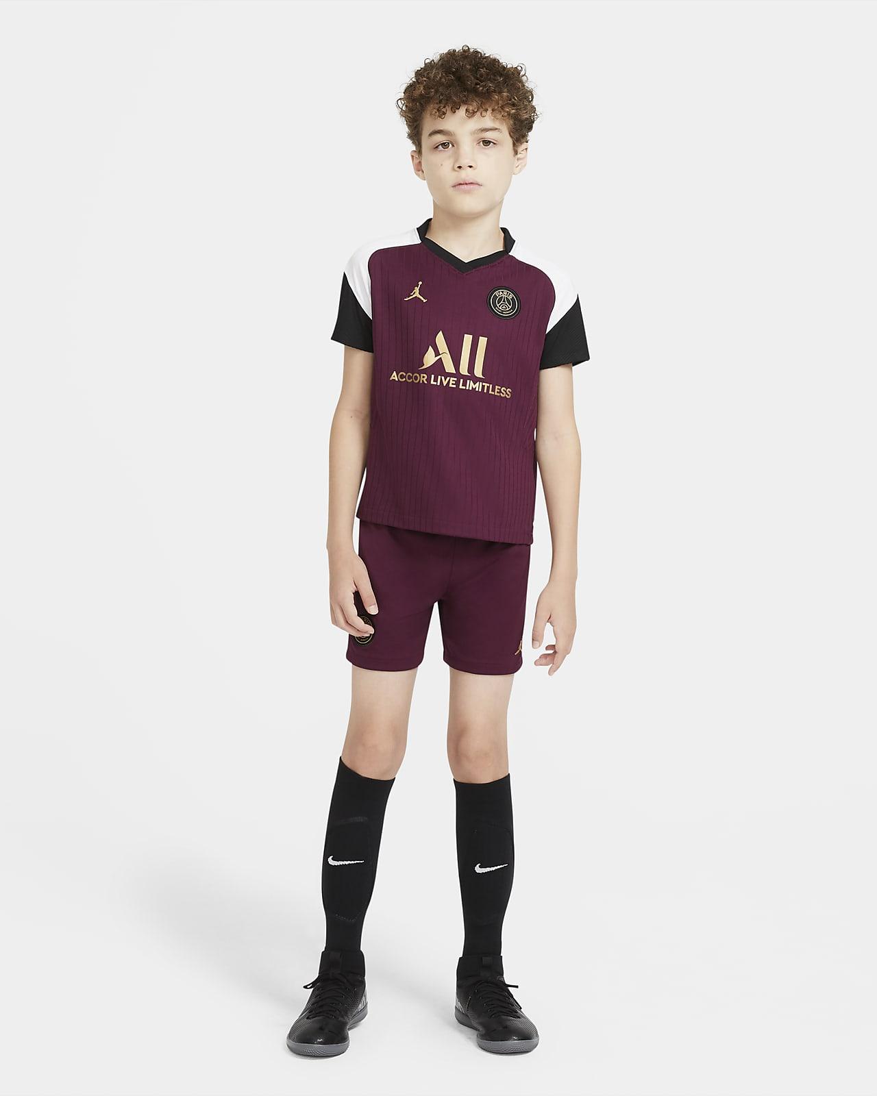 Футбольный комплект для дошкольников с символикой третьего комплекта формы ФК «Пари Сен-Жермен» 2020/21