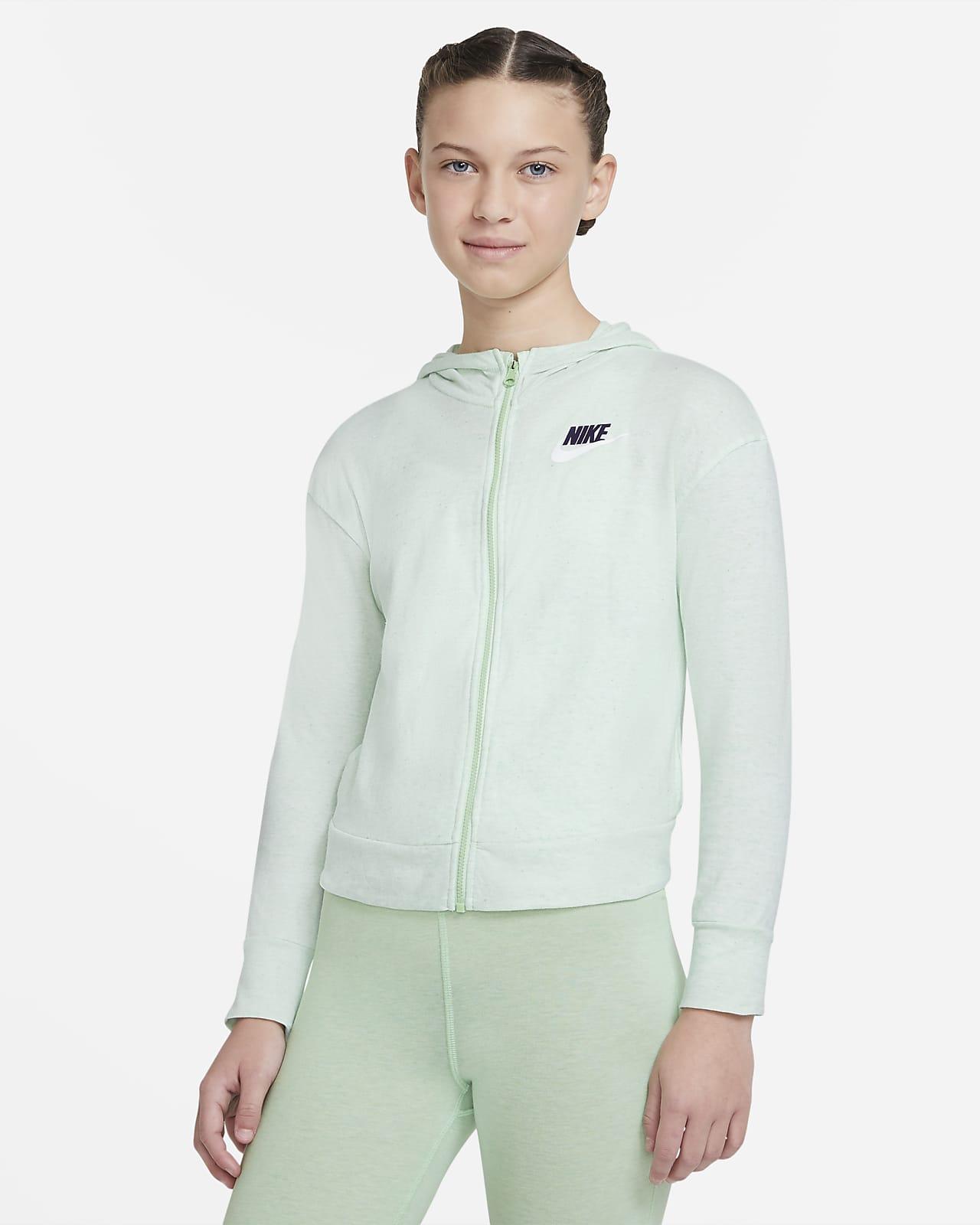 Nike Sportswear Big Kids' (Girls') Full-Zip Jersey Hoodie