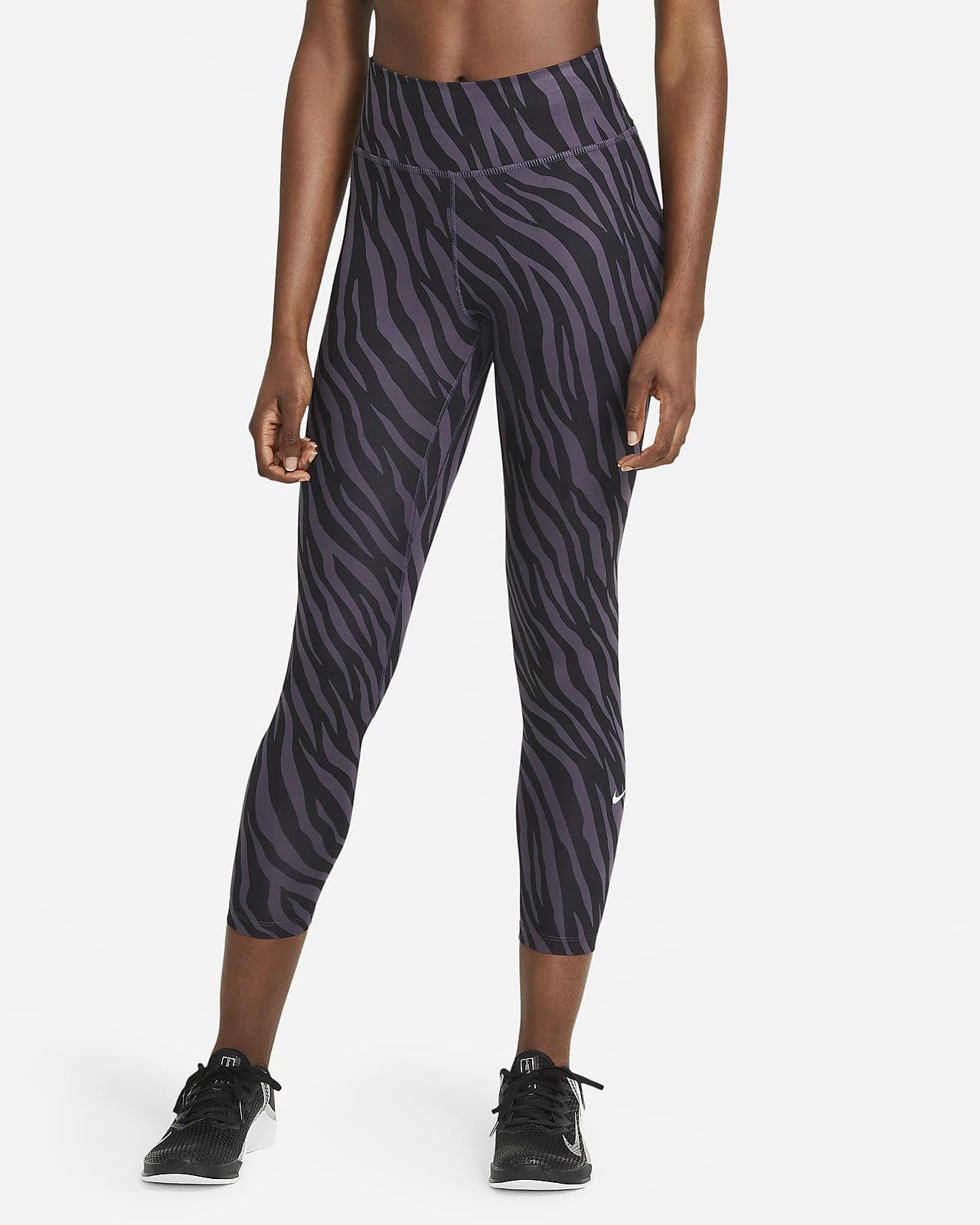 Leggings estampados de 7/8 Icon Clash para mujer Nike One