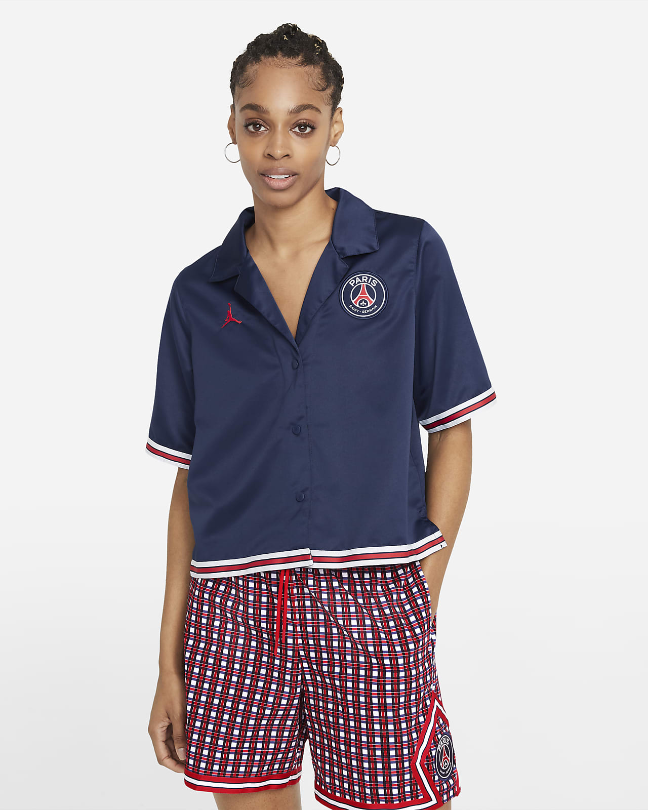 Prenda para la parte superior de manga corta lisa para mujer Paris Saint-Germain