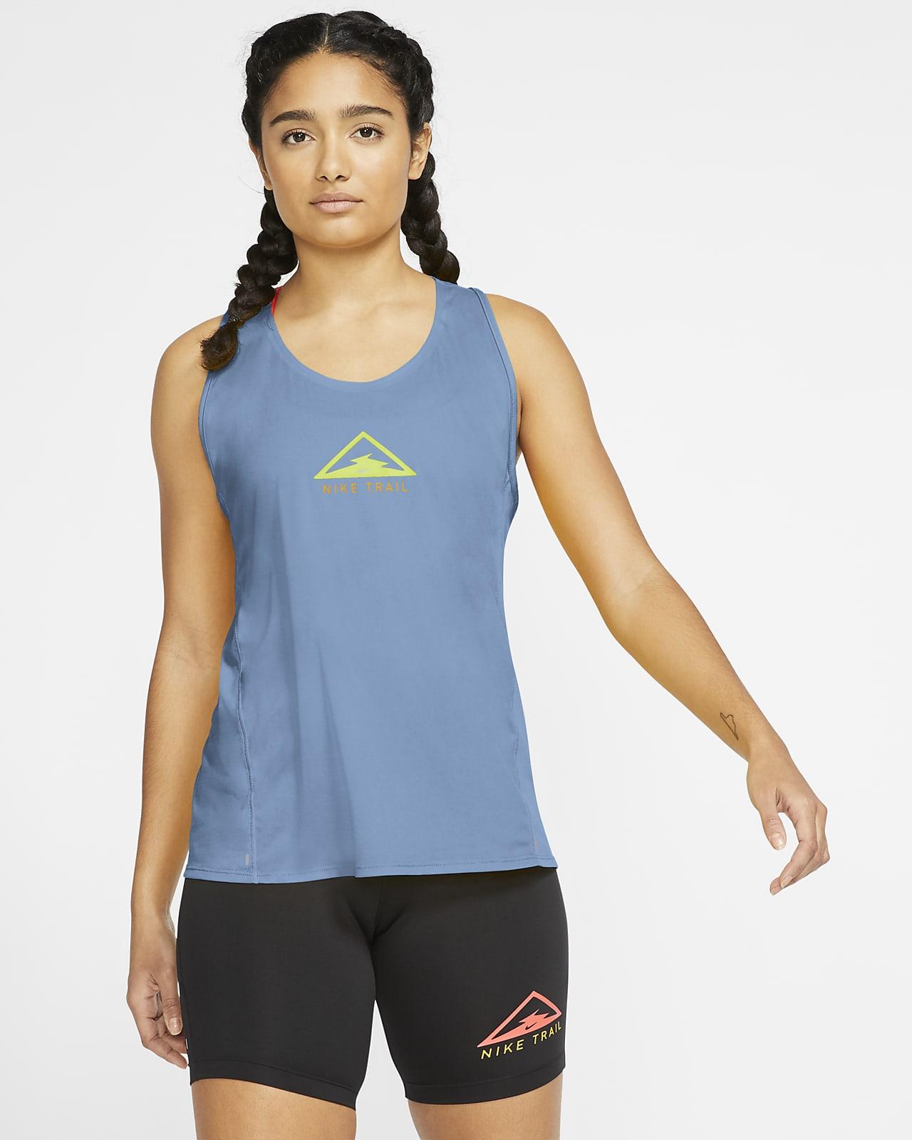 Nike City Sleek-trailløbetanktop til kvinder