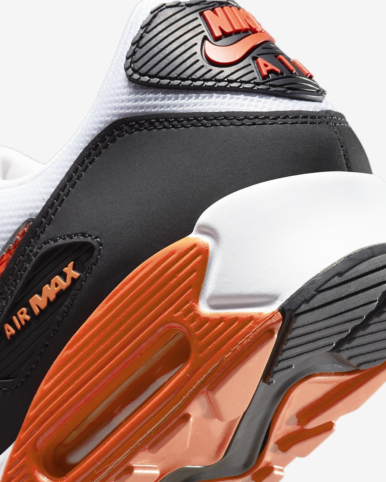 air max 90 uomo nere e arancio