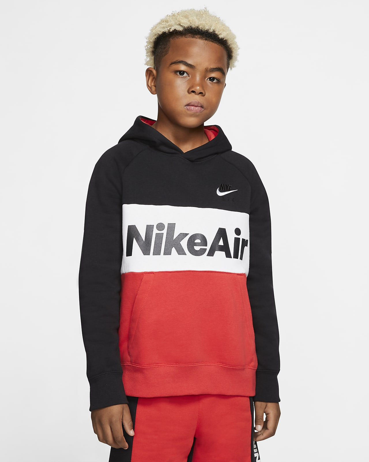 Sudadera con capucha sin cierre para niño talla grande Nike Air