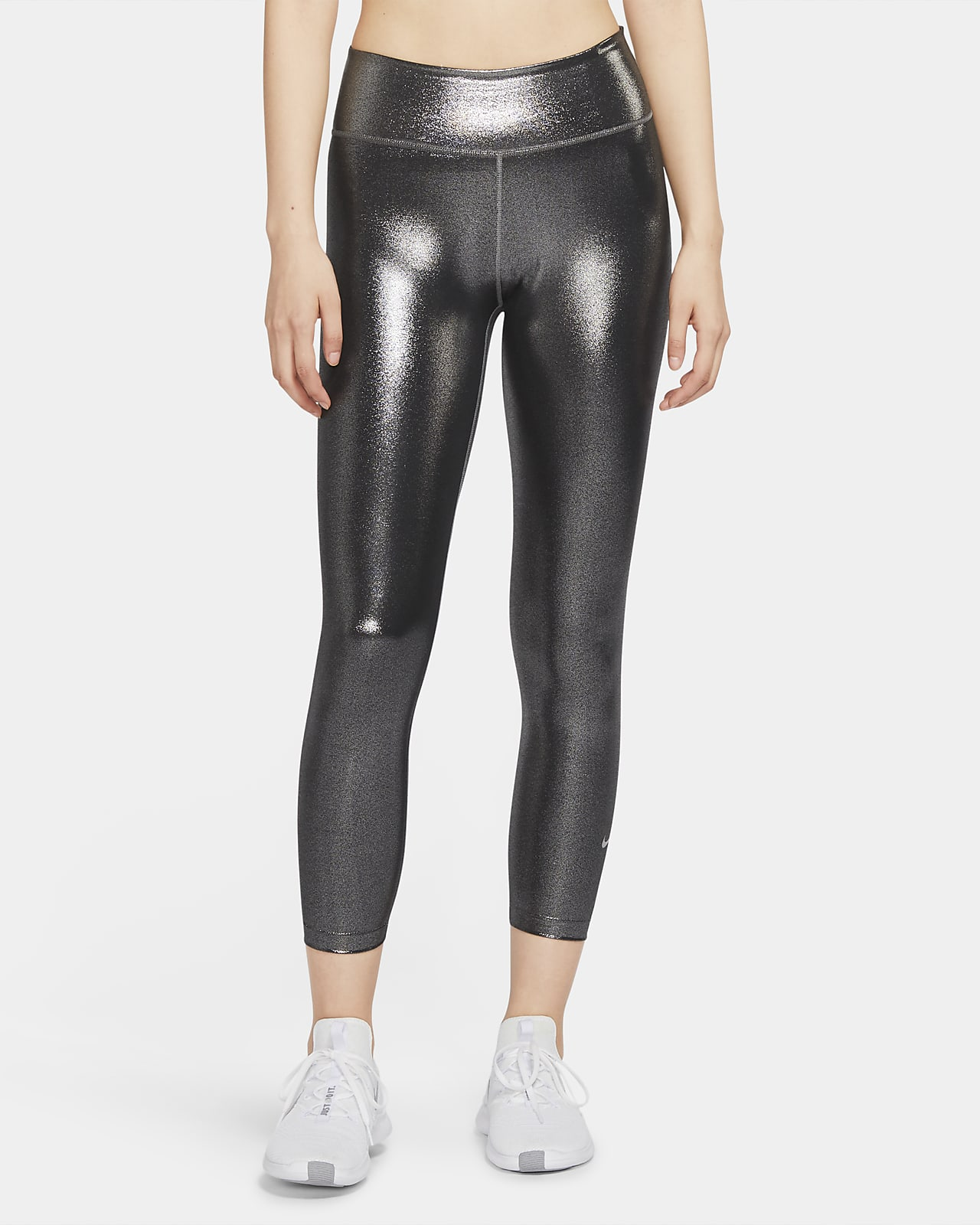 Nike One Icon Clash Women's Mid-Rise 7/8 Shimmer Leggings