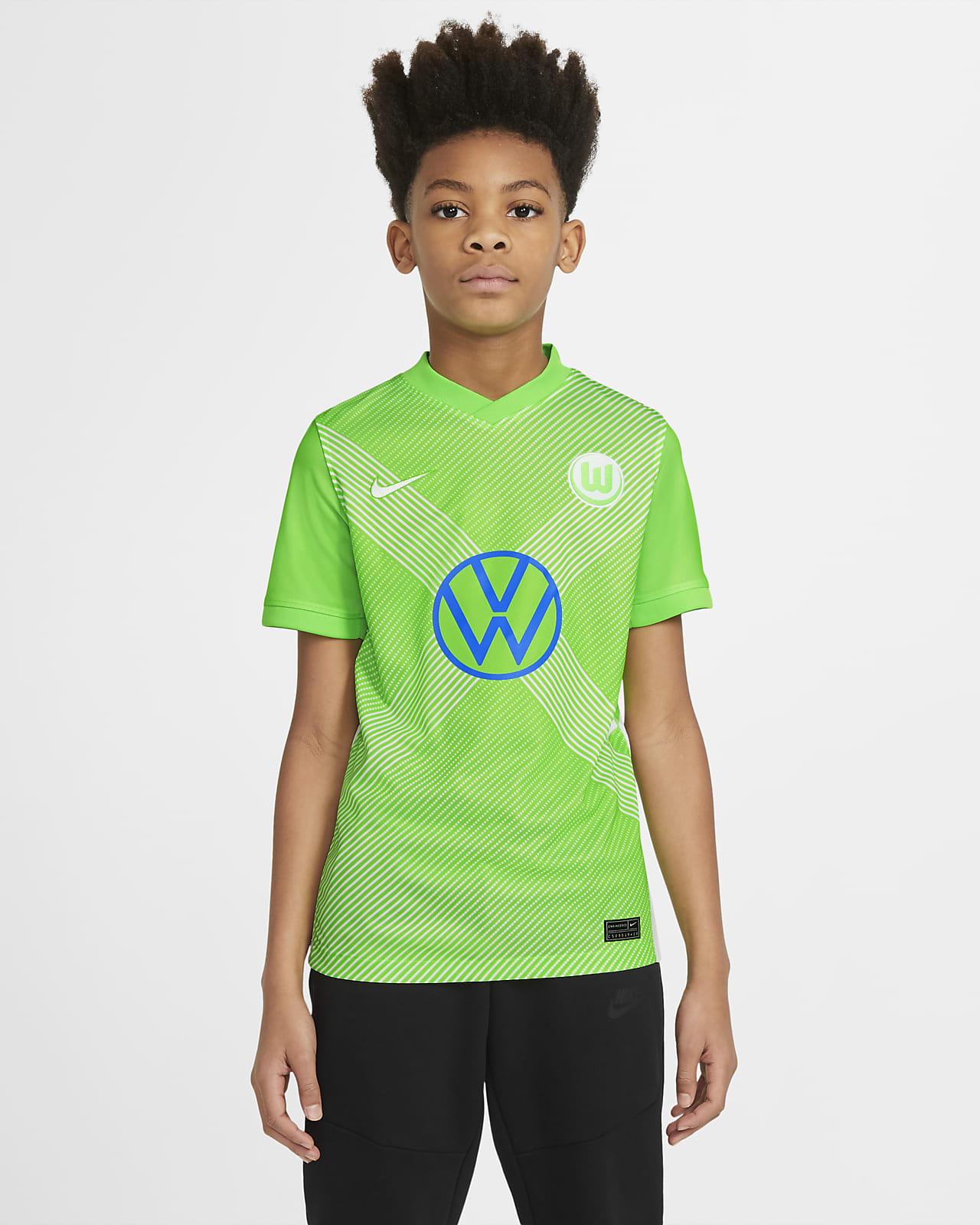 Camiseta de fútbol de local para niños talla grande Stadium del VfL Wolfsburgo 2020/21
