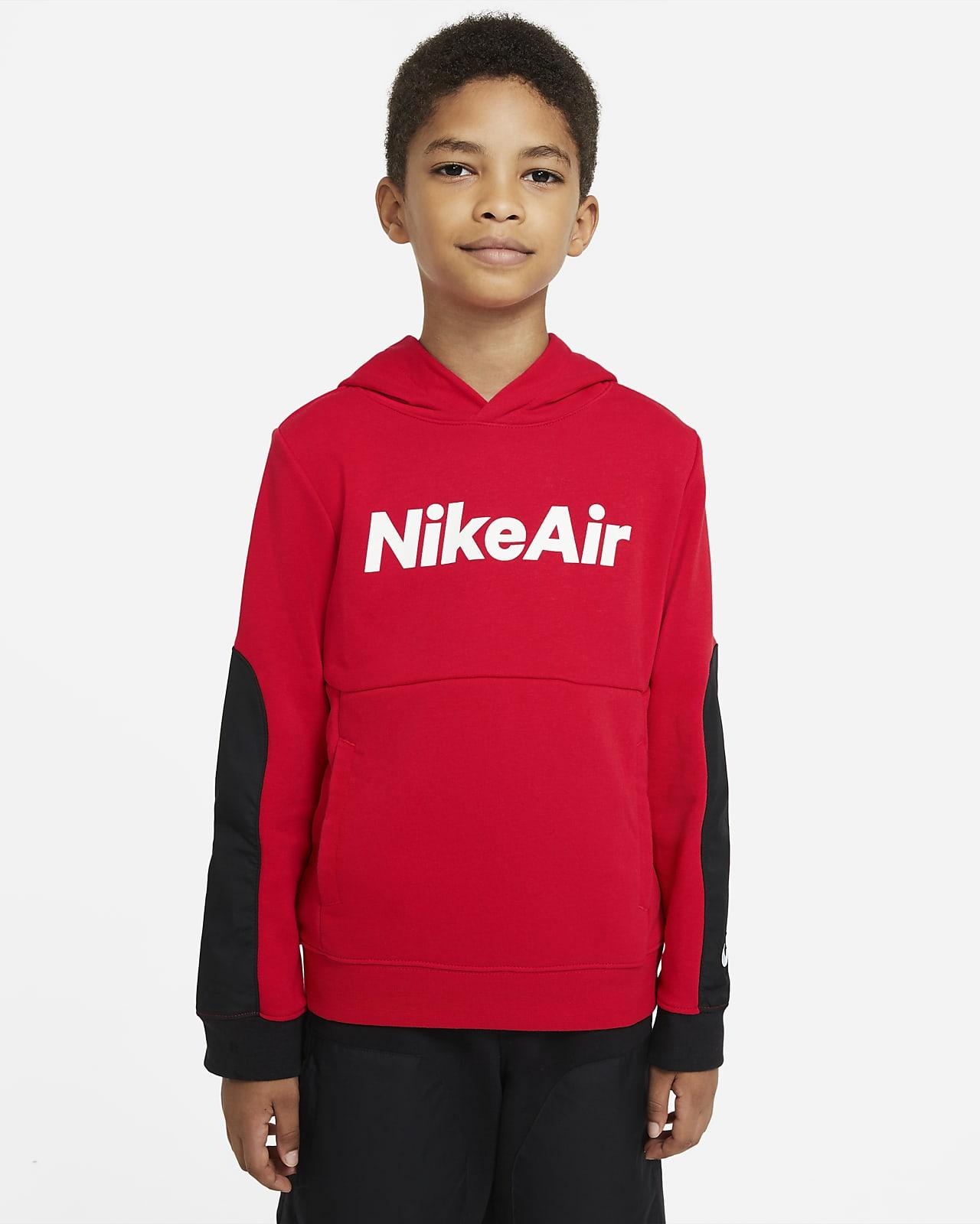 Nike Air-pullover-hættetrøje i french terry til store børn (drenge)