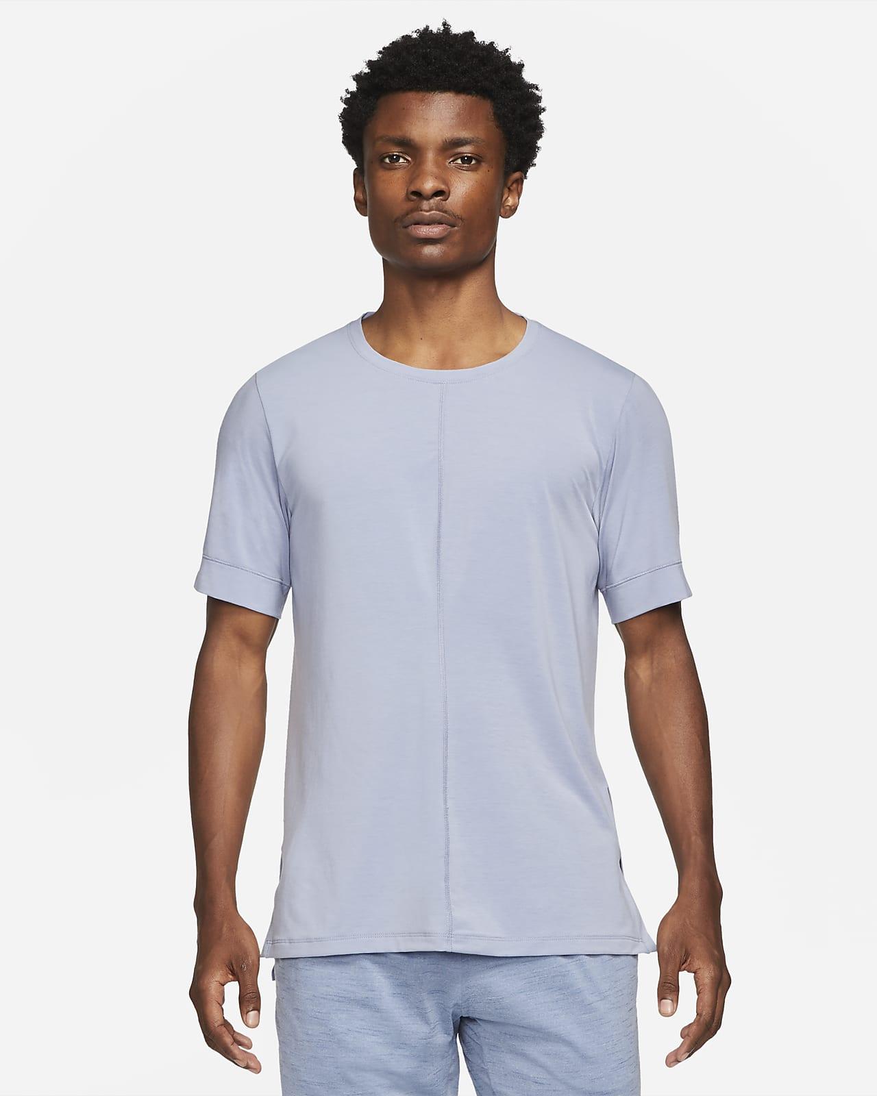 Haut à manches courtes Nike Yoga Dri-FIT pour Homme