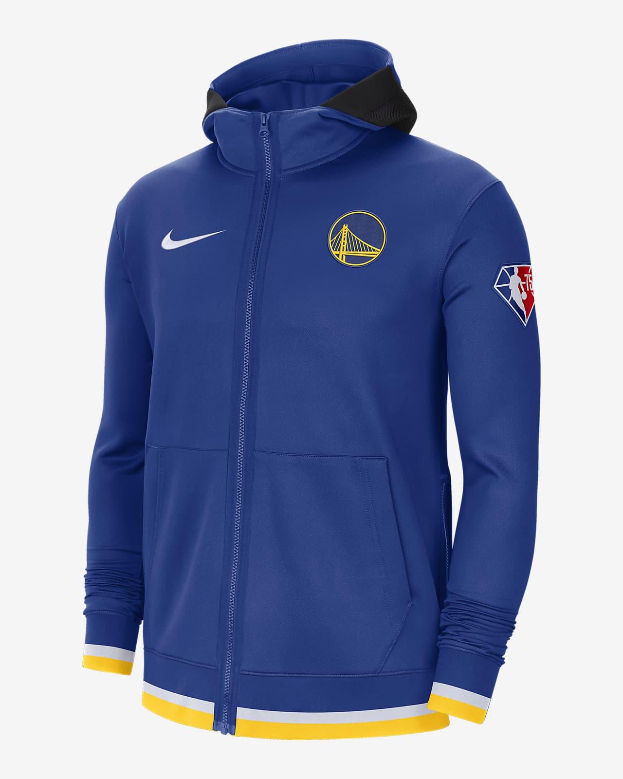 Męska bluza z kapturem i zamkiem na całej długości Golden State Warriors Nike Showtime Nike Dri-FIT NBA