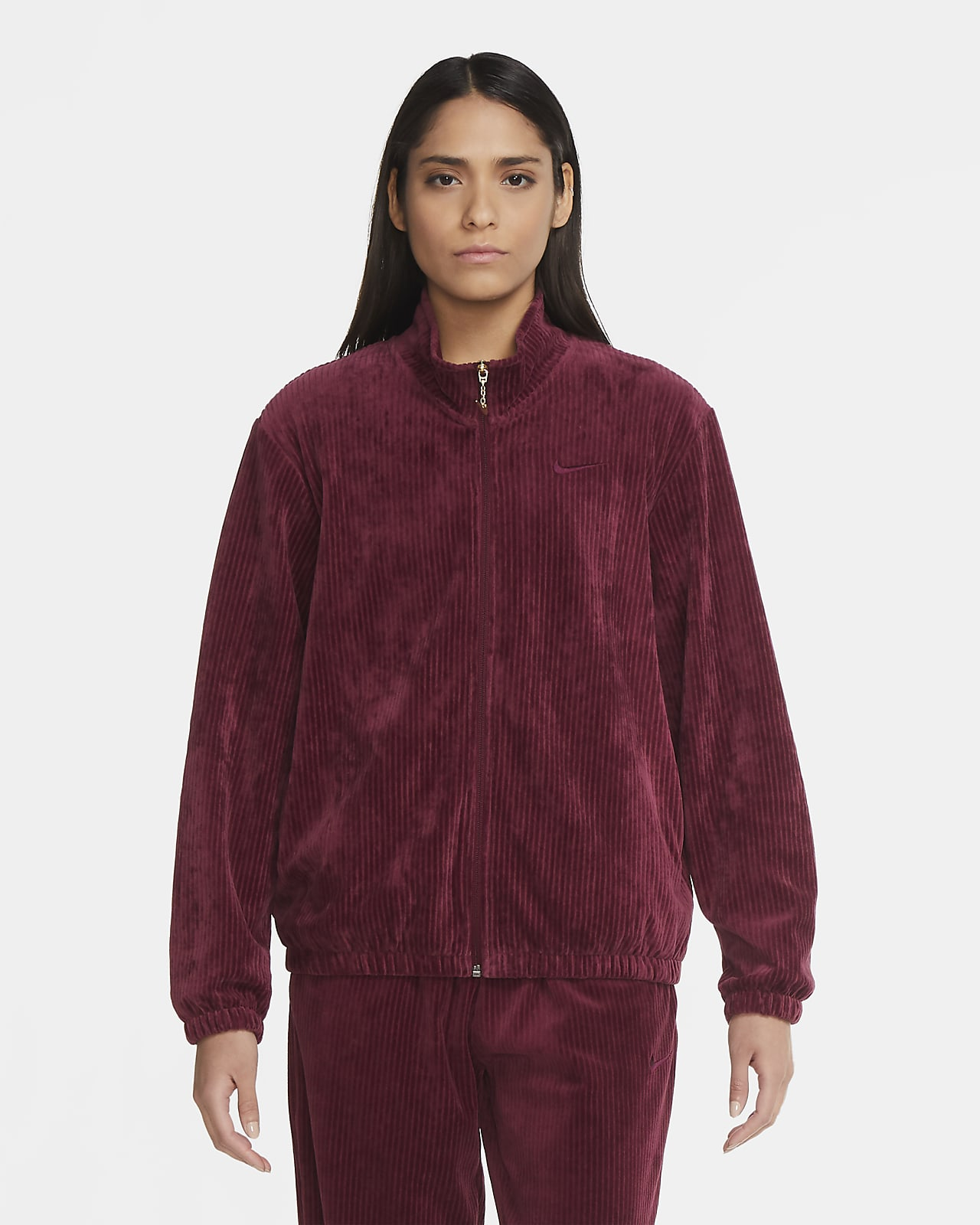 Track jacket in velour Nike Sportswear - Donna