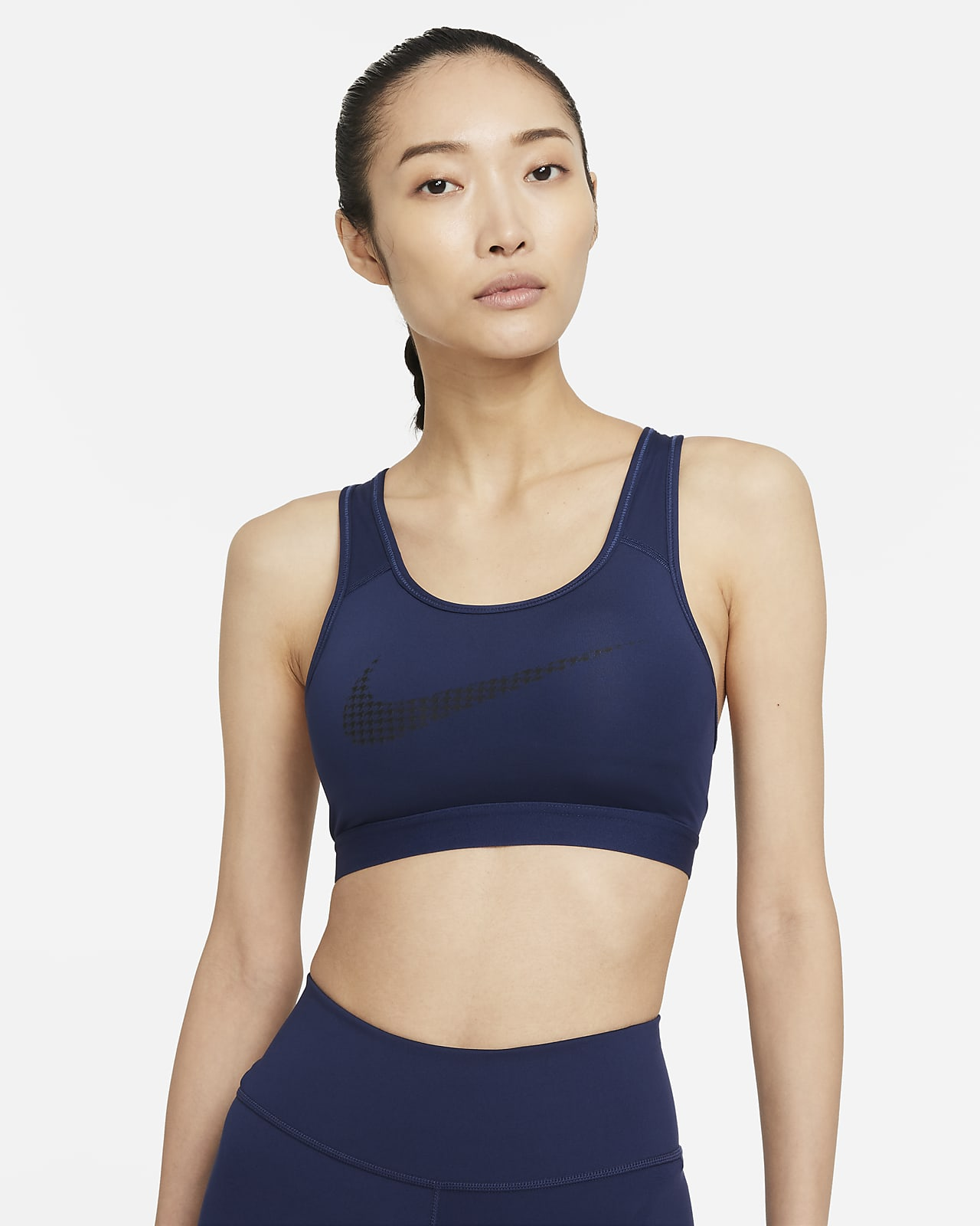 Nike Dri-FIT Swoosh Icon Clash Women's Medium-Support Padded Graphic Sports Bra
