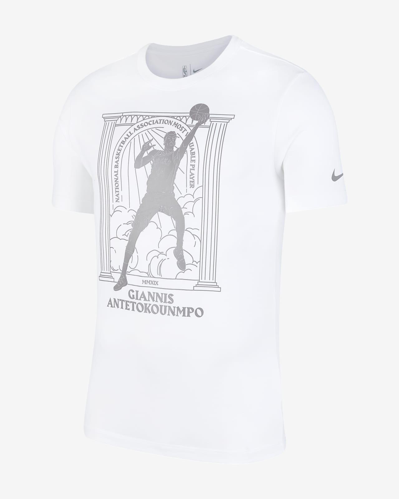 เสื้อยืด Nike Dri-FIT NBA ผู้ชาย Giannis Antetokounmpo Bucks MVP