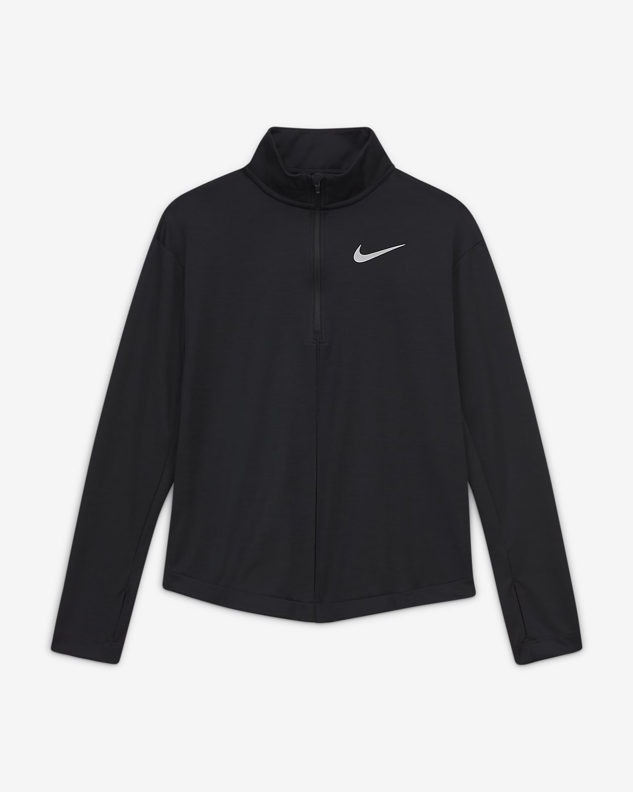 Nike Big Kids' (Girls') 1/2-Zip Long-Sleeve Running Top