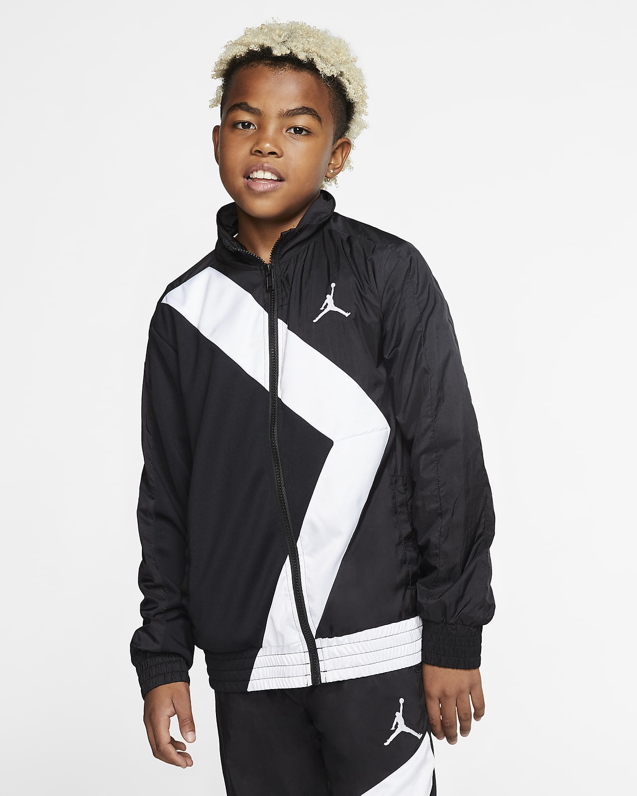 Jordan Wings Jacke mit durchgehendem Reißverschluss für ältere Kinder (Jungen)